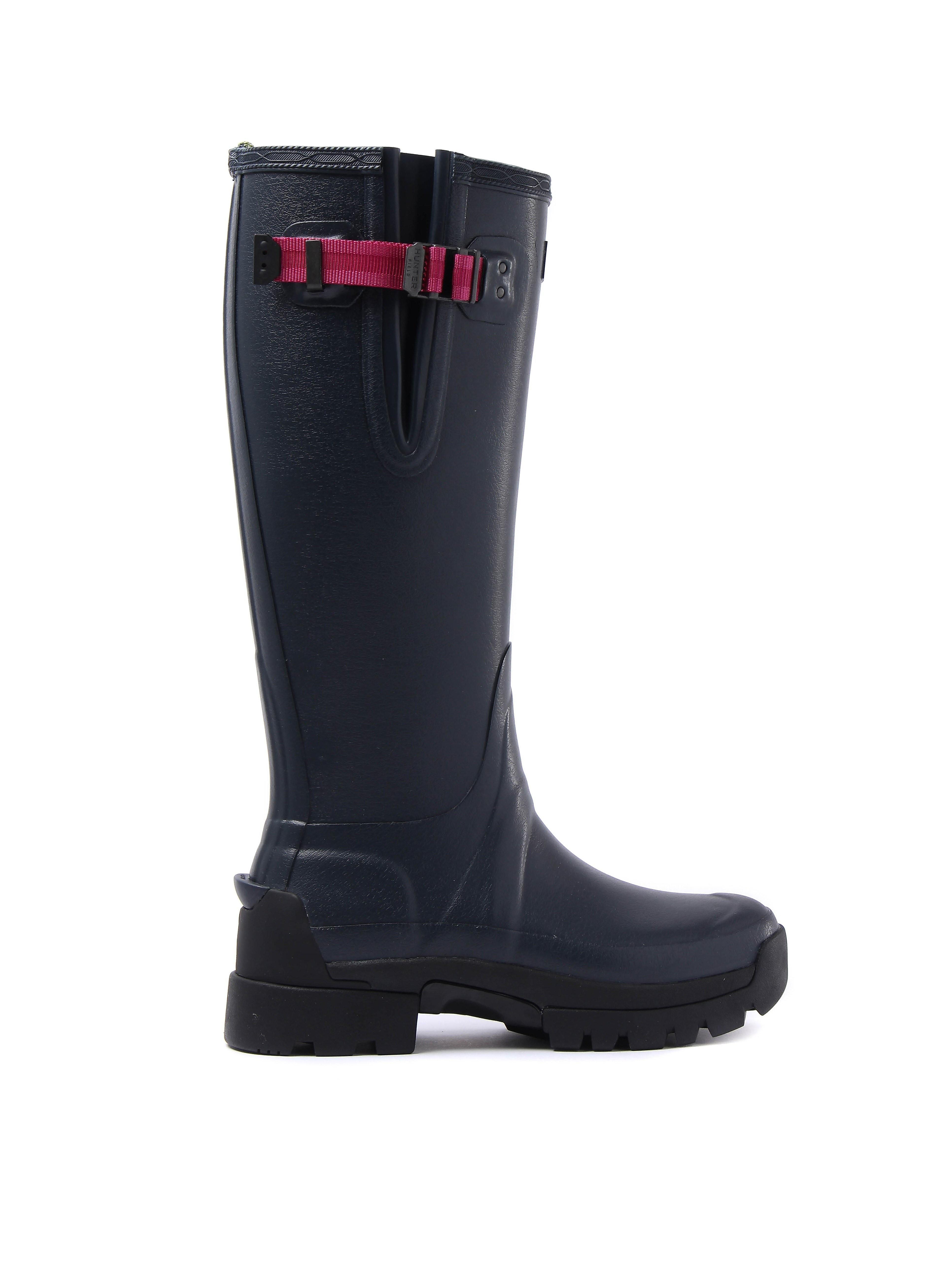 Hunter Wellies Women's Original Tall Adjustable Wellington Boots - Navy/Peppercorn