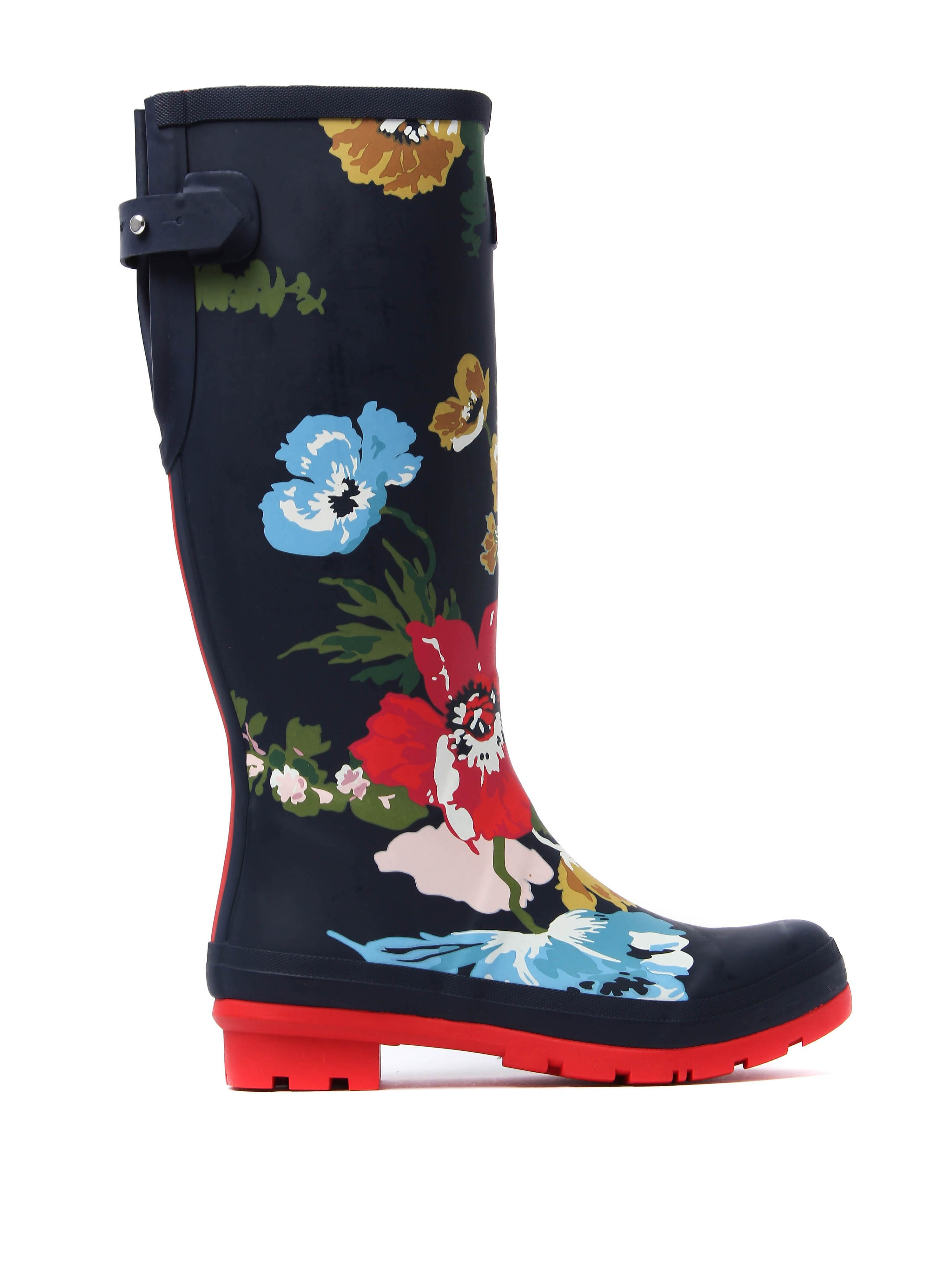 Joules Women's Adjusta Posy Rubber Wellington Boots - French Navy
