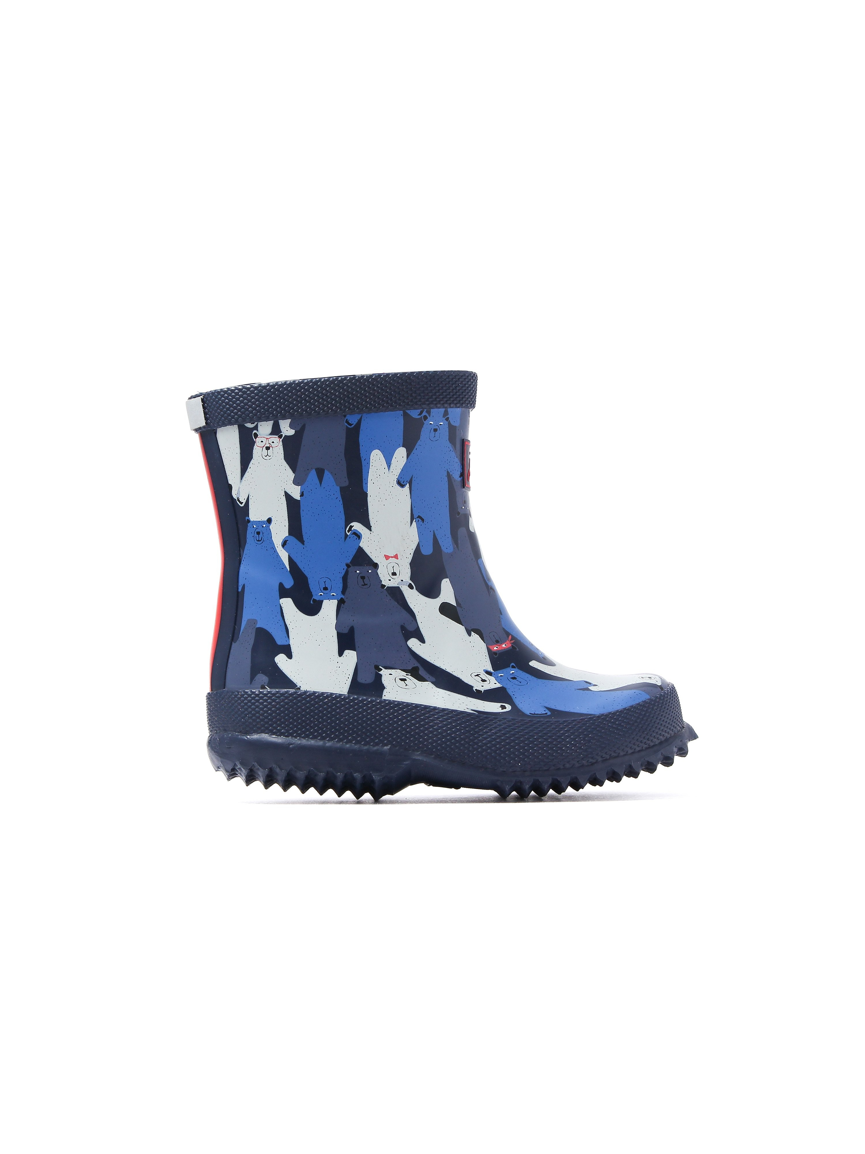 Joules Infant Mulbear Navy Printed Rubber Wellington Boots