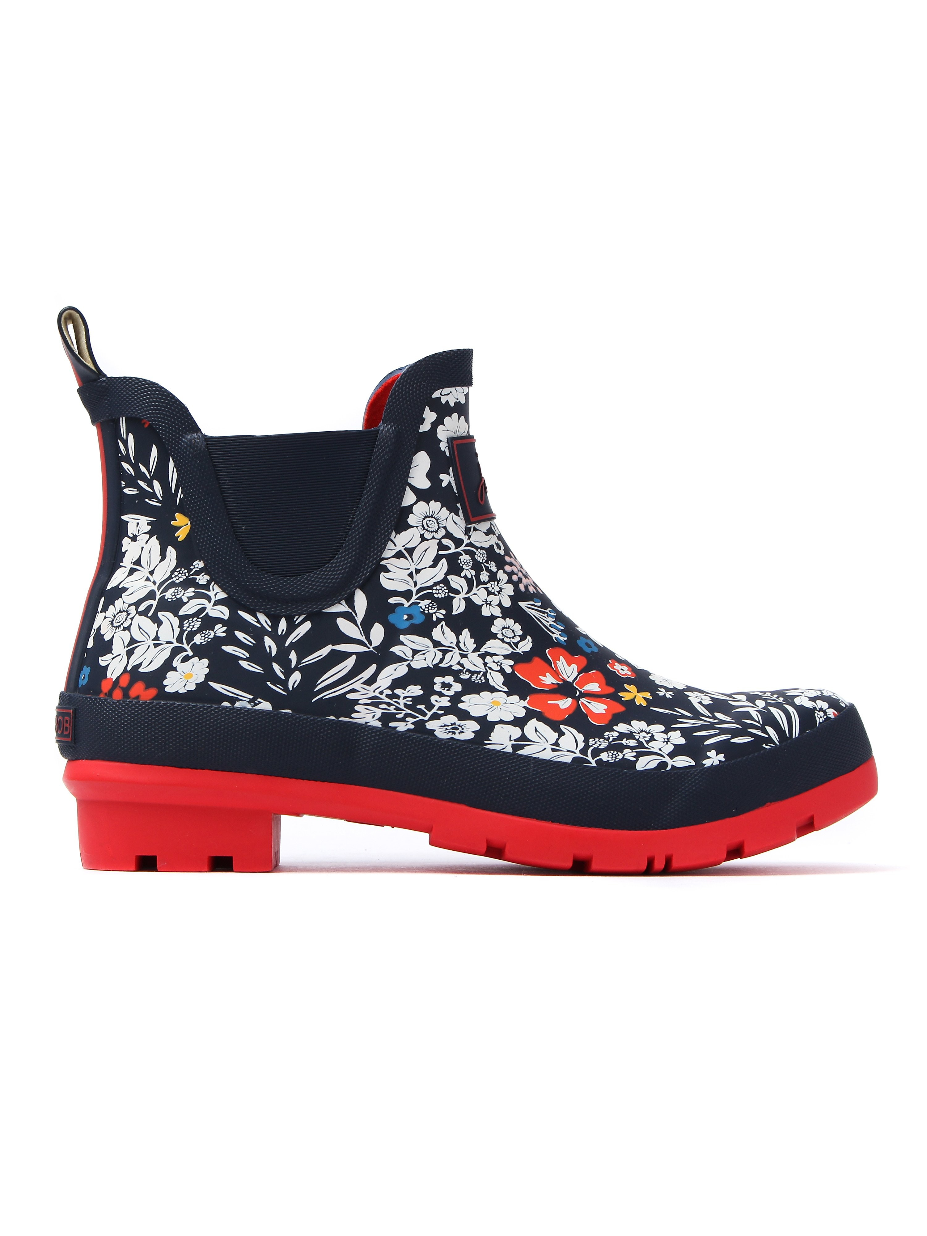 Joules Women's Wellibob Ria Ditsy Print Ankle Wellies - French Navy