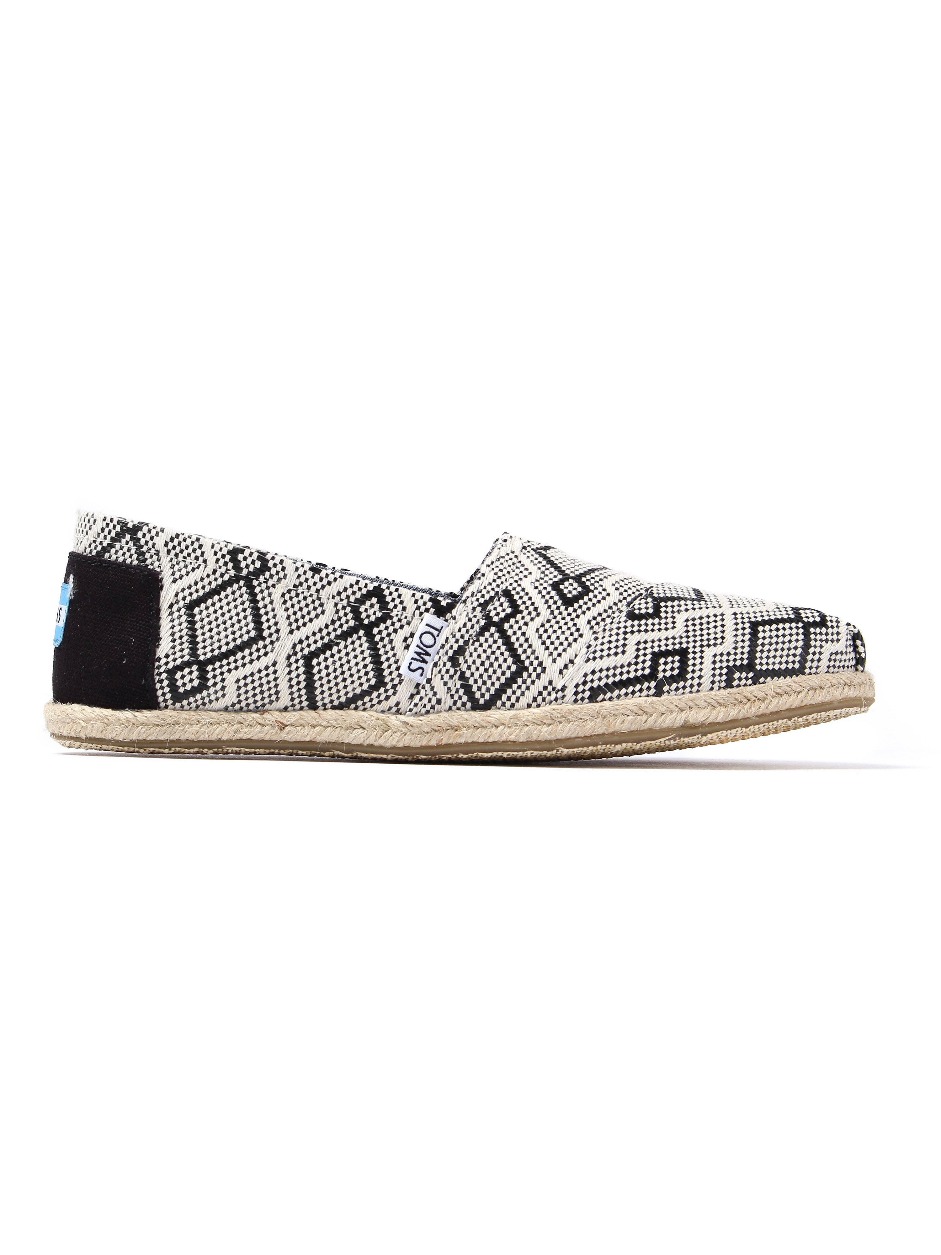 Toms Women's Classic Jacquard Rope Sole - Black