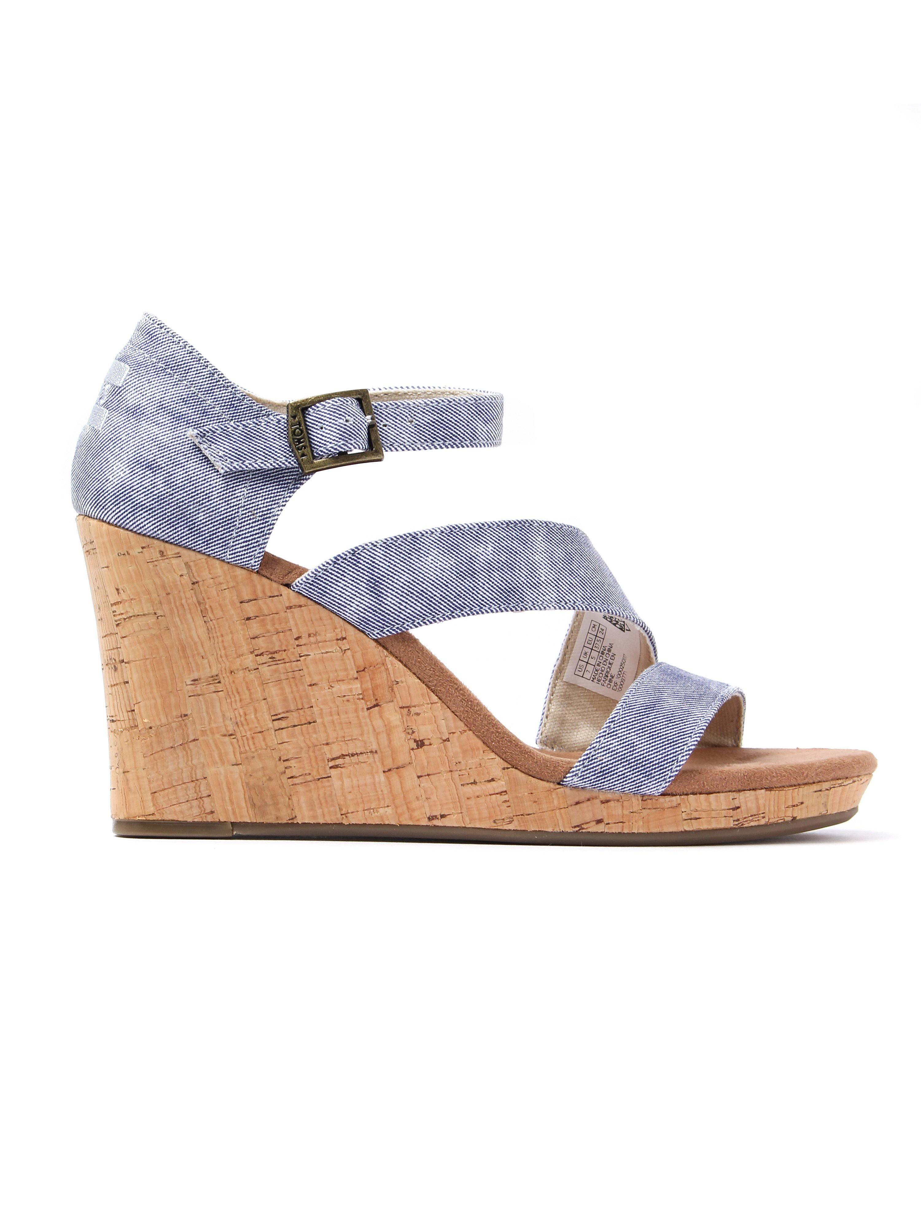 Toms Women's Clarissa Cork Sandals - Slate Blue