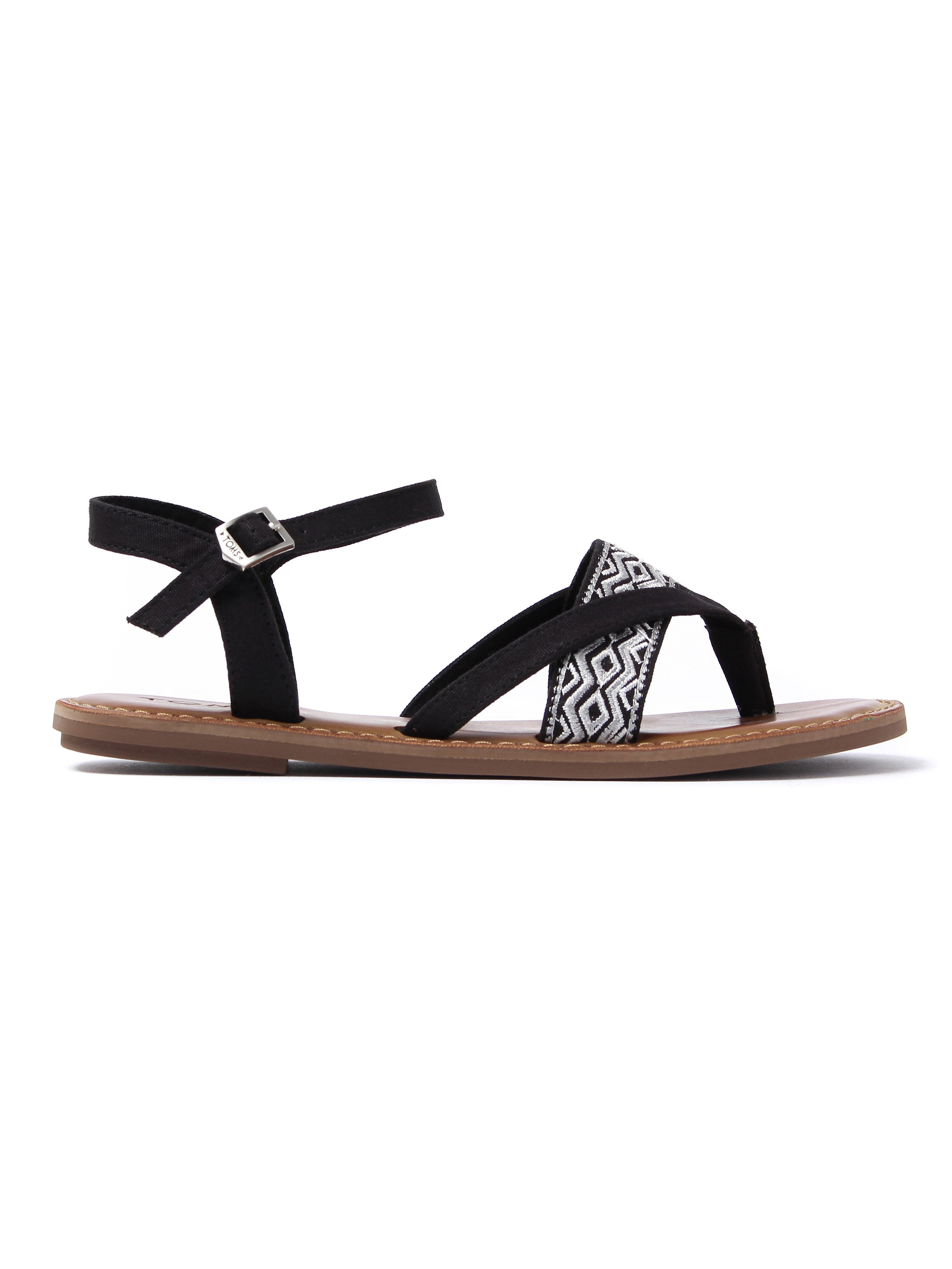 Toms Women's Lexie Embroidered Sandals - Black