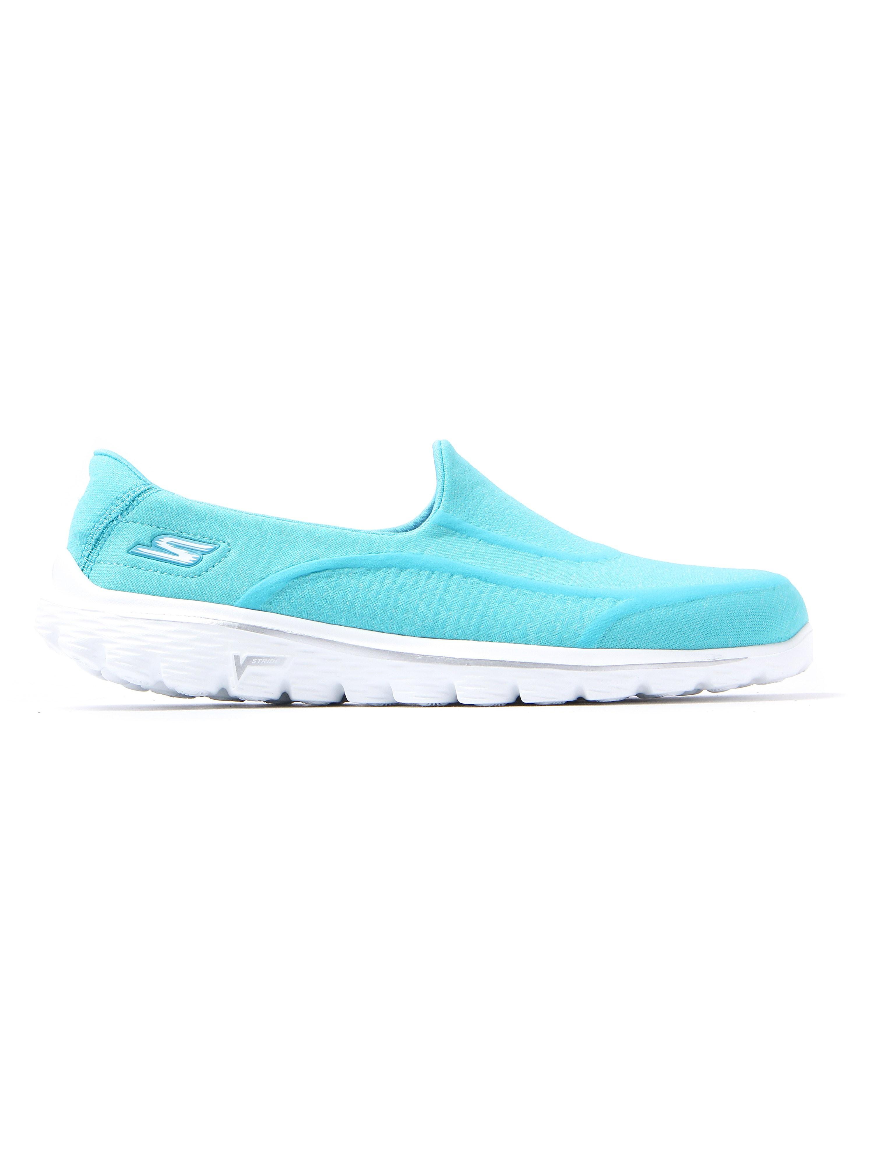 Skechers Women's GO Walk 2 Super Sock Slip On Trainers - Aqua