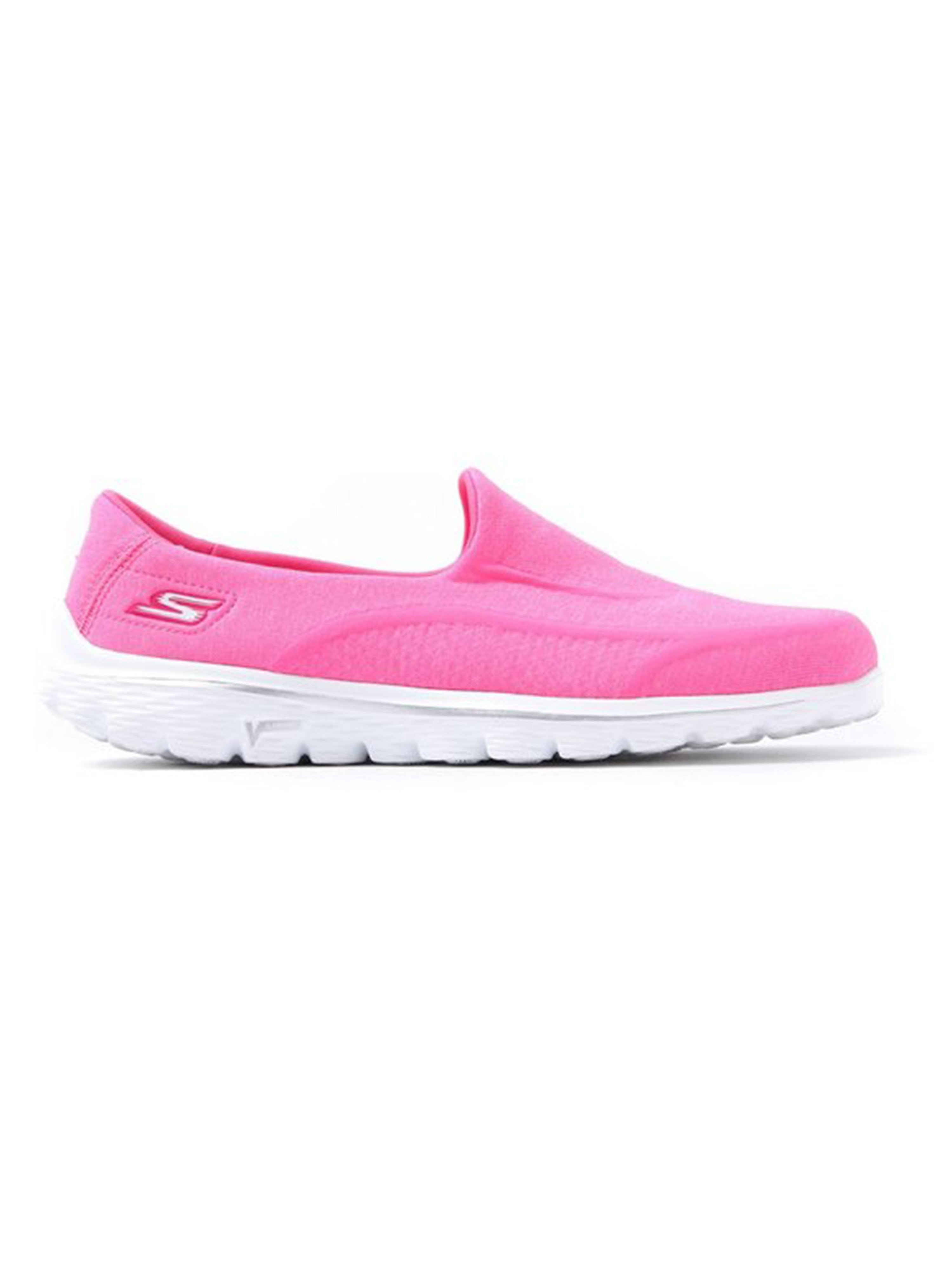 Skechers Women's GO Walk 2 Super Sock Slip On Trainers - Hot Pink