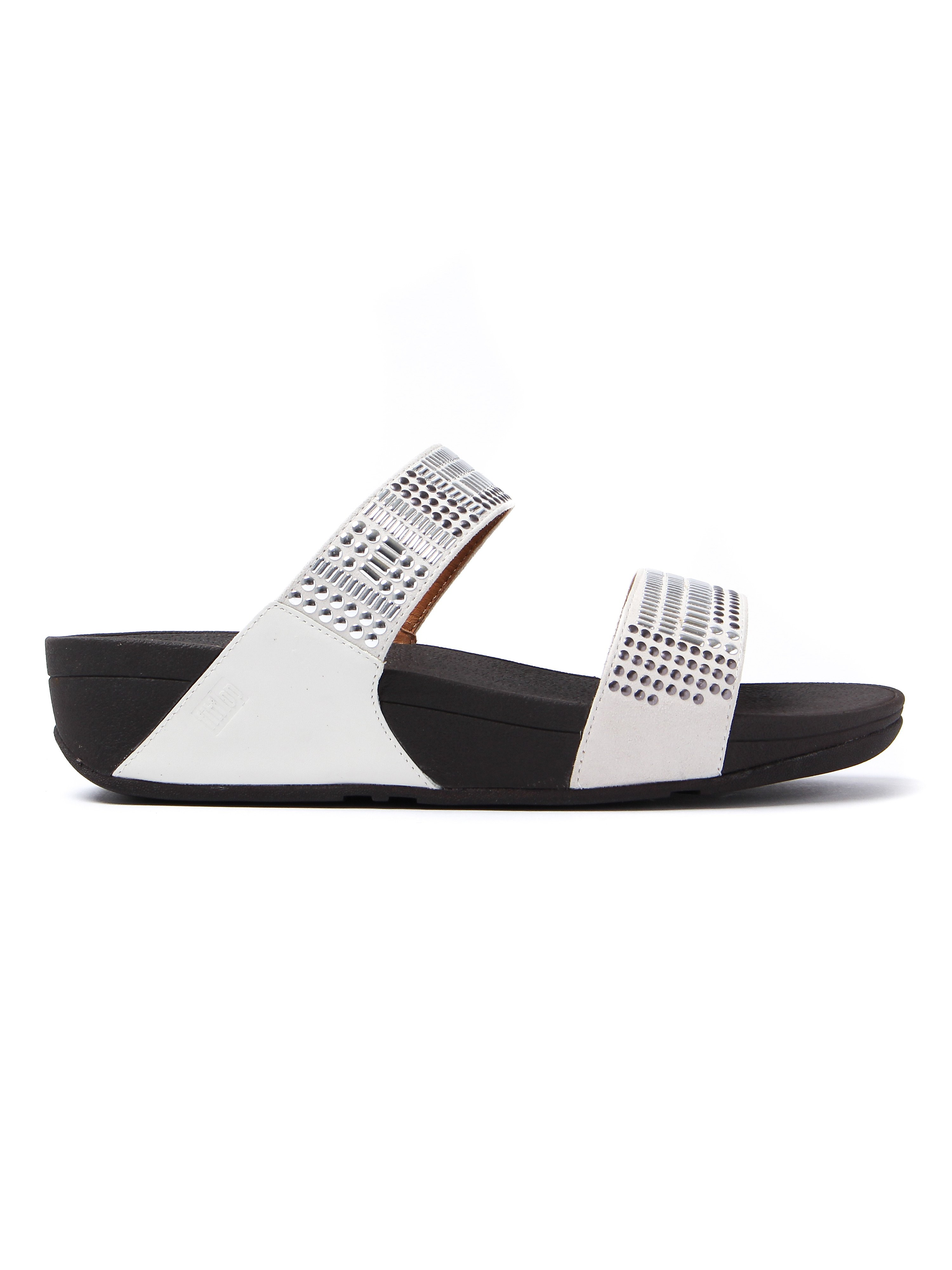 FitFlop  Women's Aztec Chada Slide Sandals - Urban White
