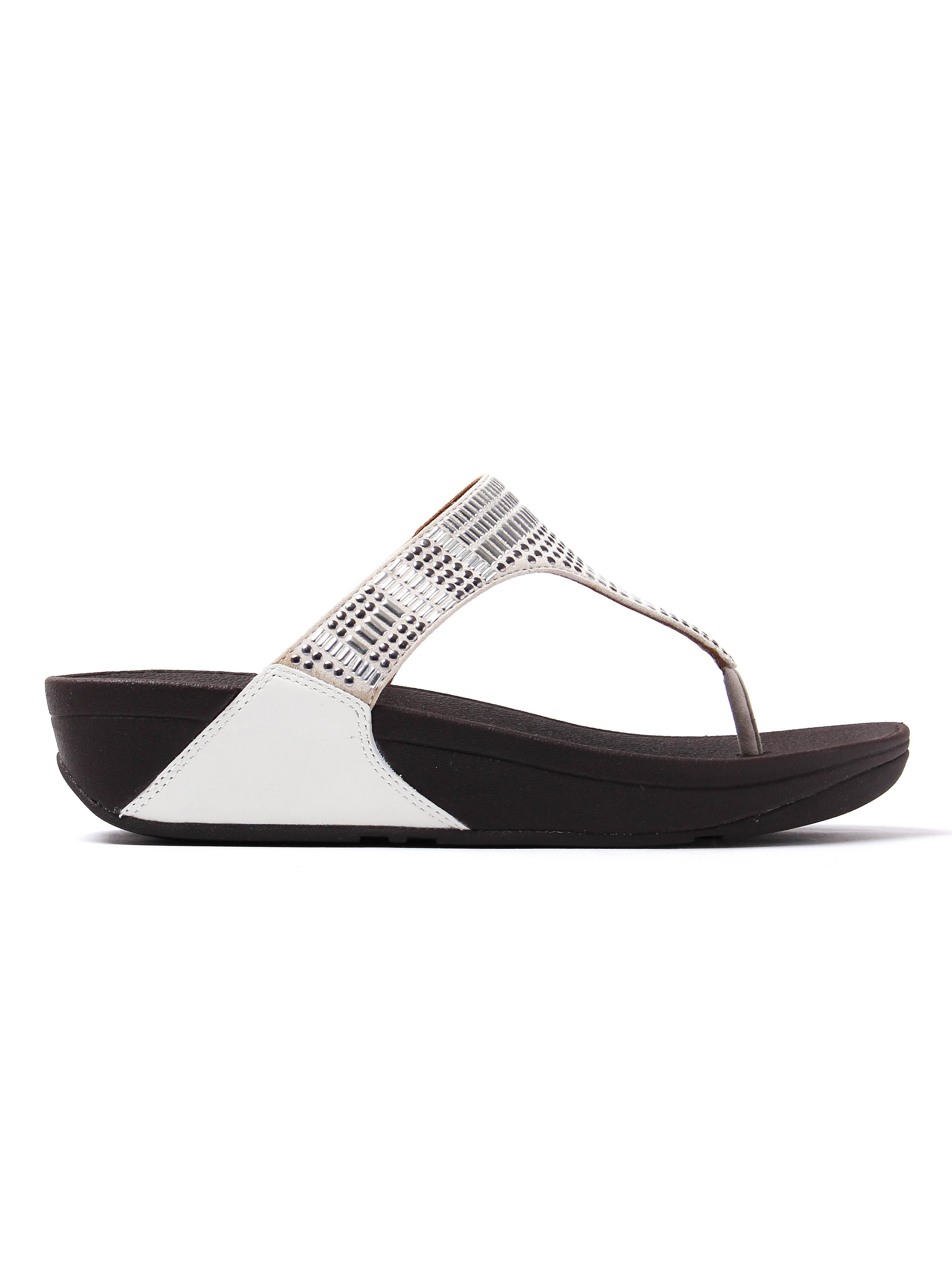 FitFlop Women's Aztek Chada Studded Sandals - Urban White Leather