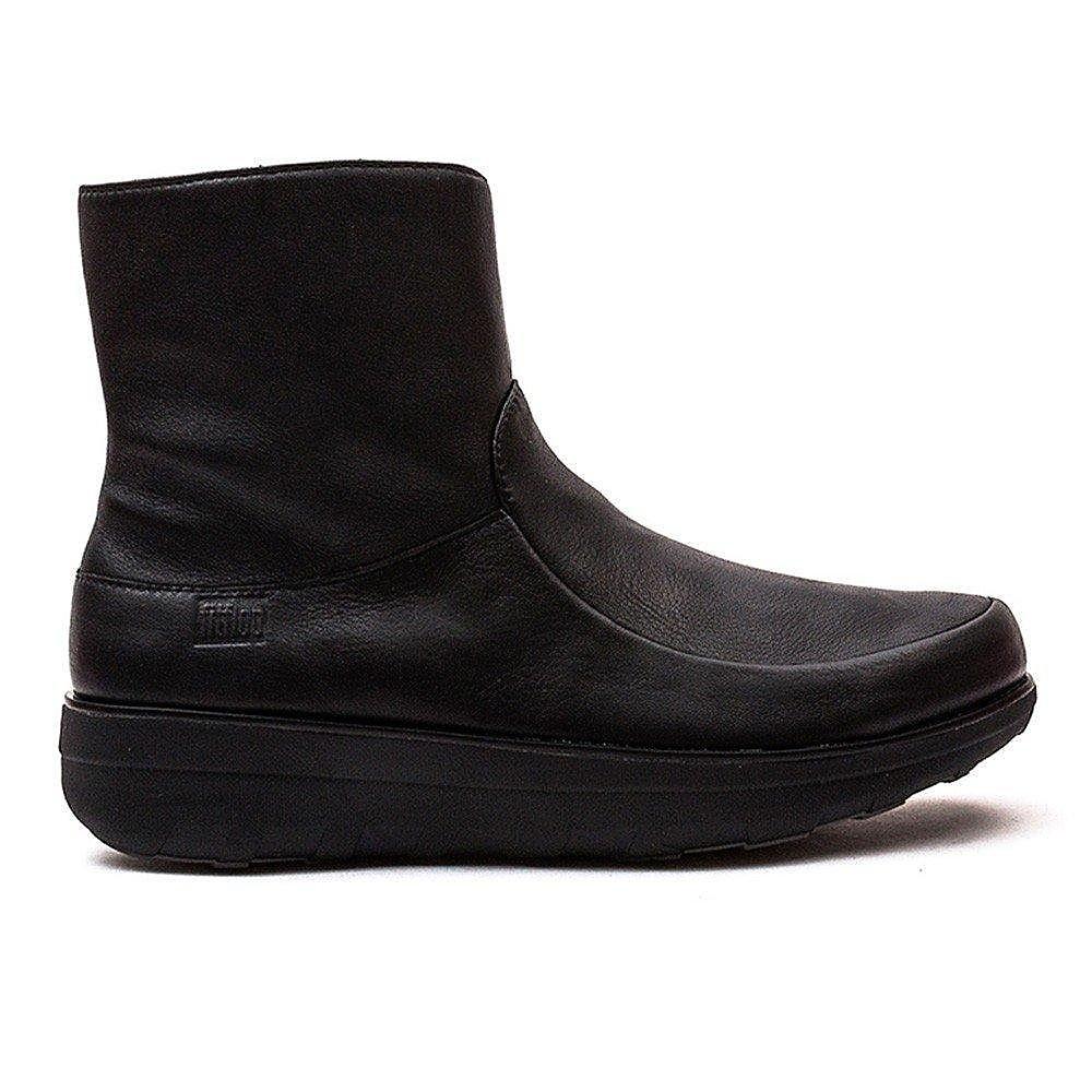 FitFlop Women's Loaff Shorty Zip Boots - Black Nubuck