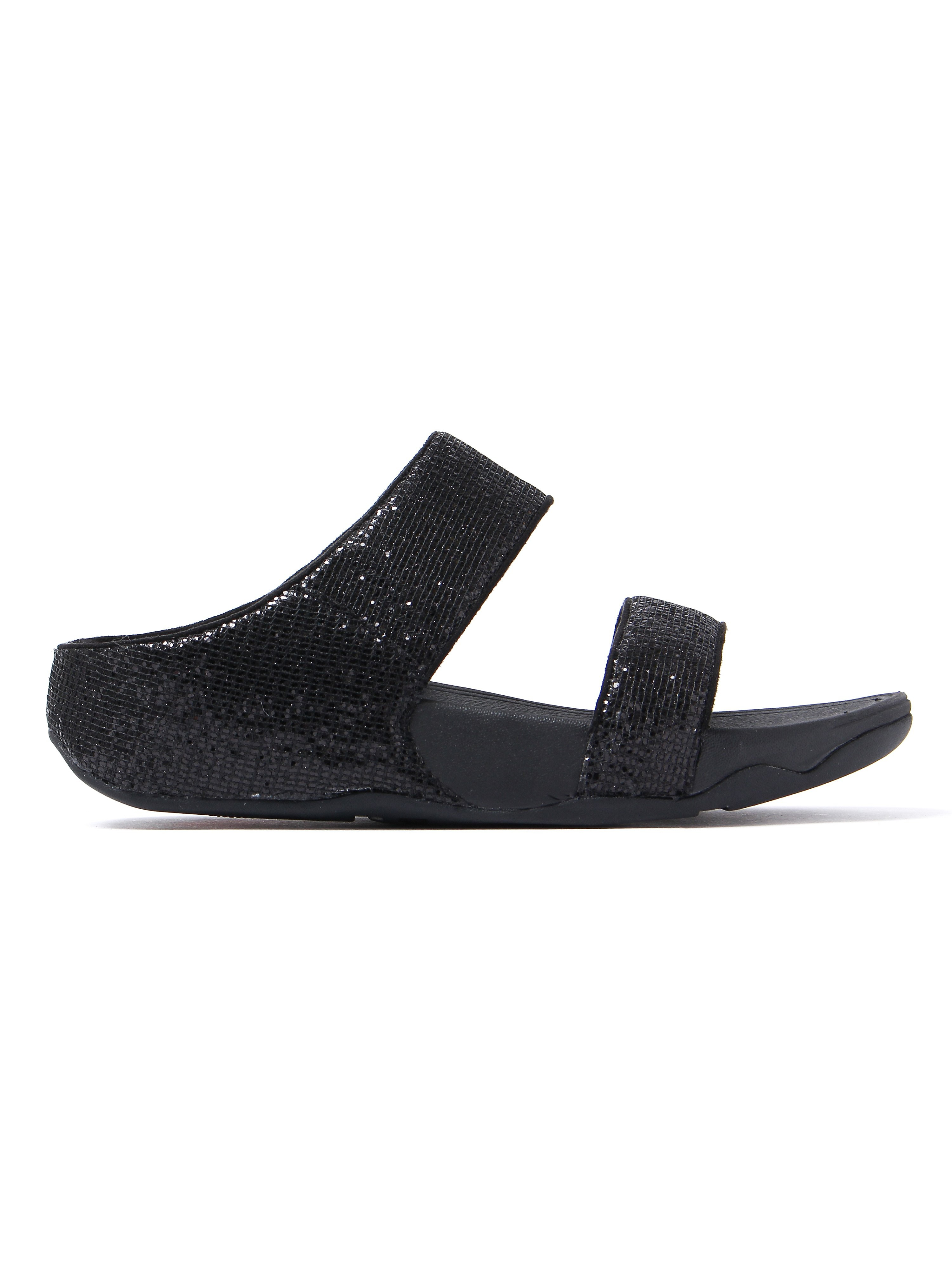 FitFlop Women's SuperGlitz Slide Sandals - Black