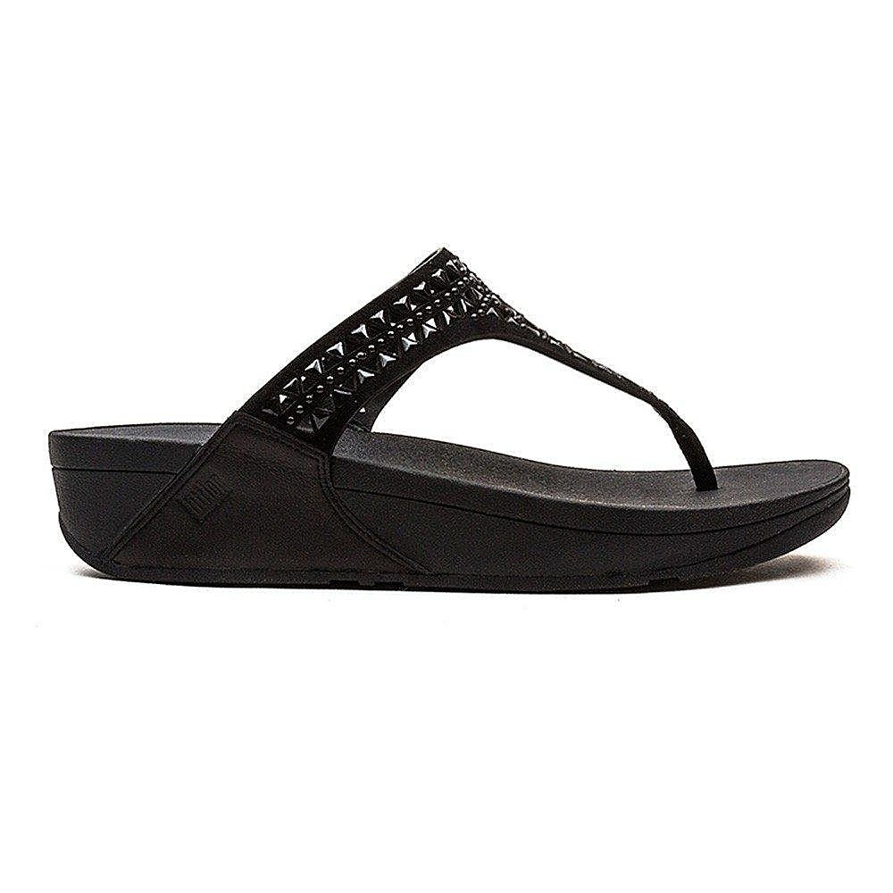 FitFlop Women's Carmel™ Toe-Post Sandals - Black Suede