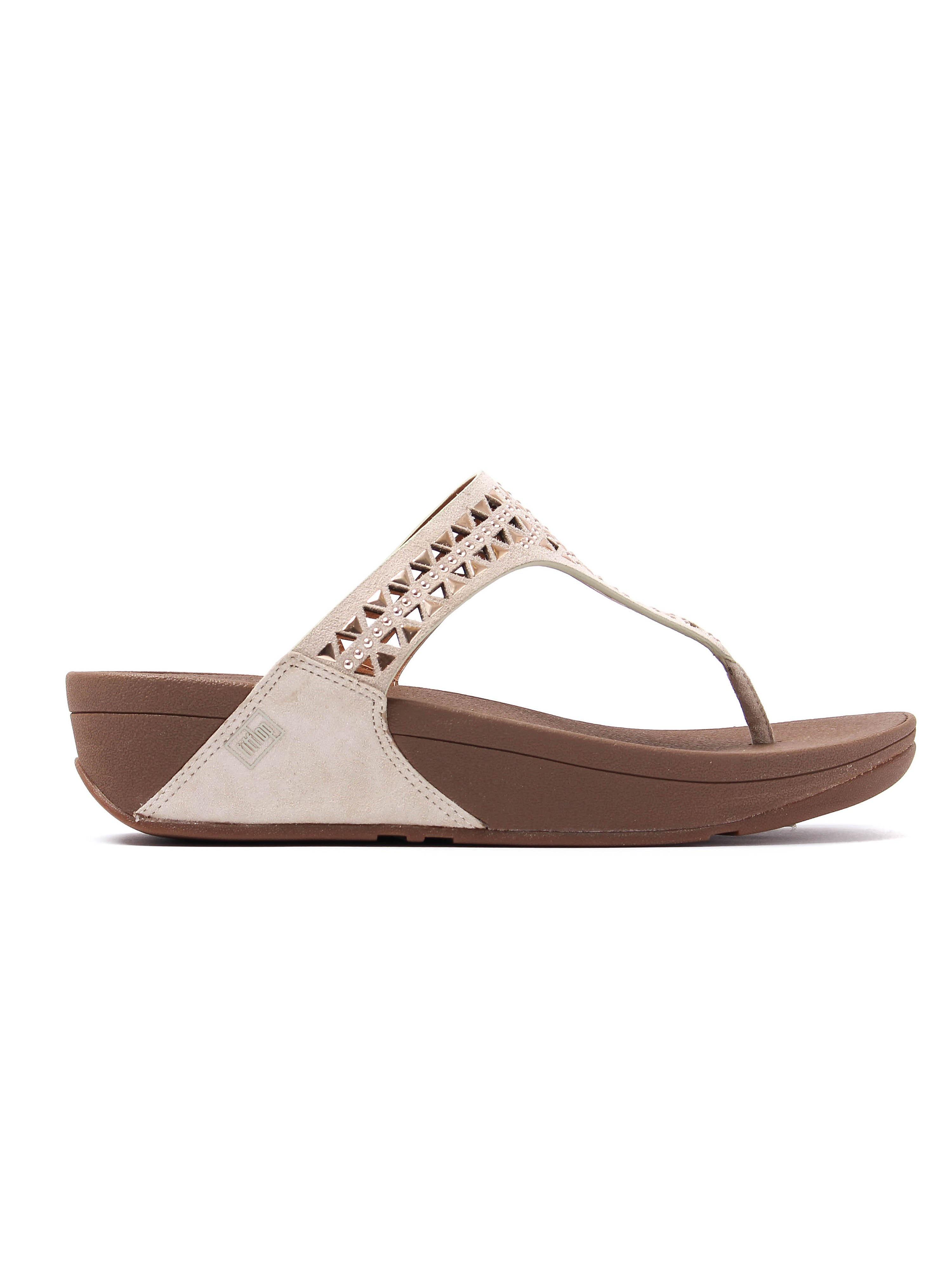 FitFlop  Women's Carmel™ Toe-Post Sandals - Rose Gold