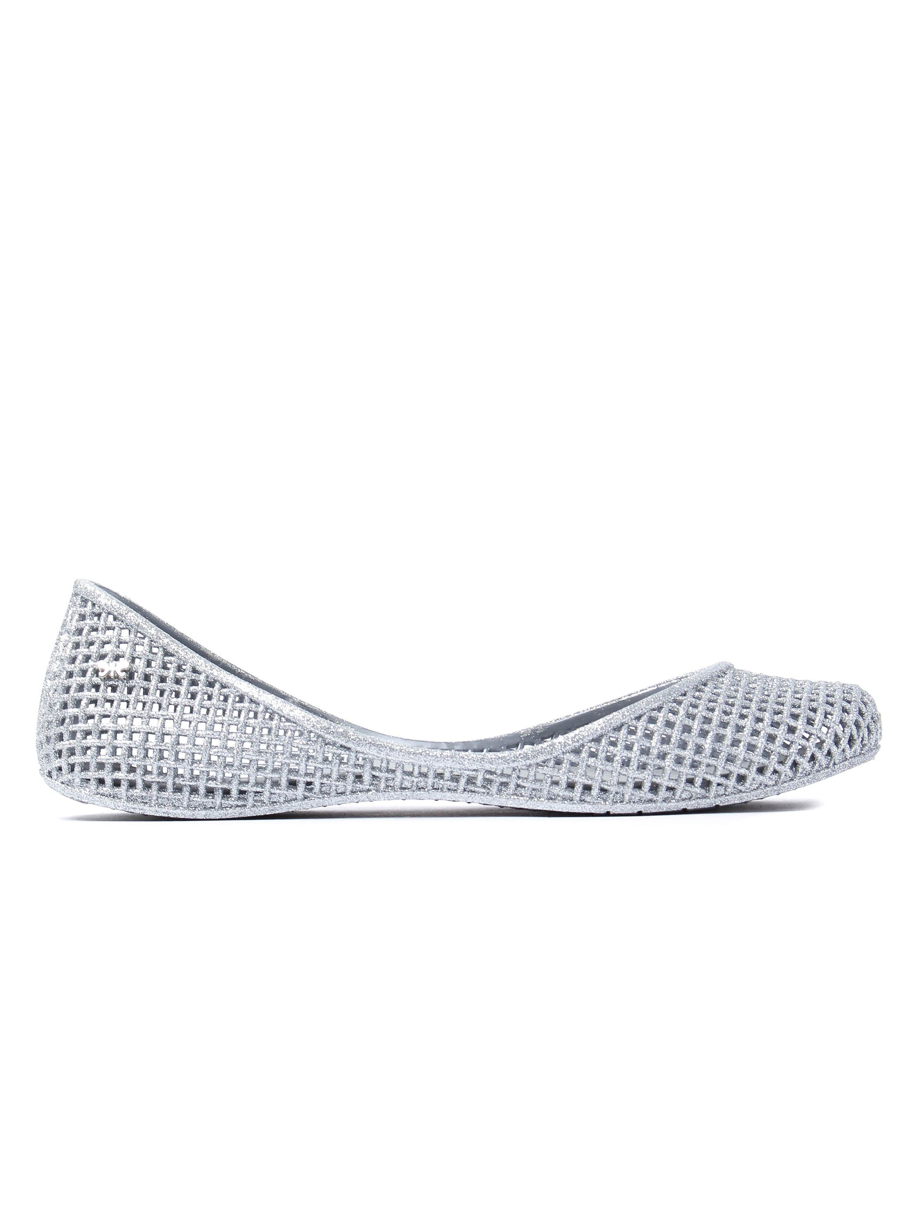 Zaxy Women's Amora Glitter Ballerina Pumps - Silver