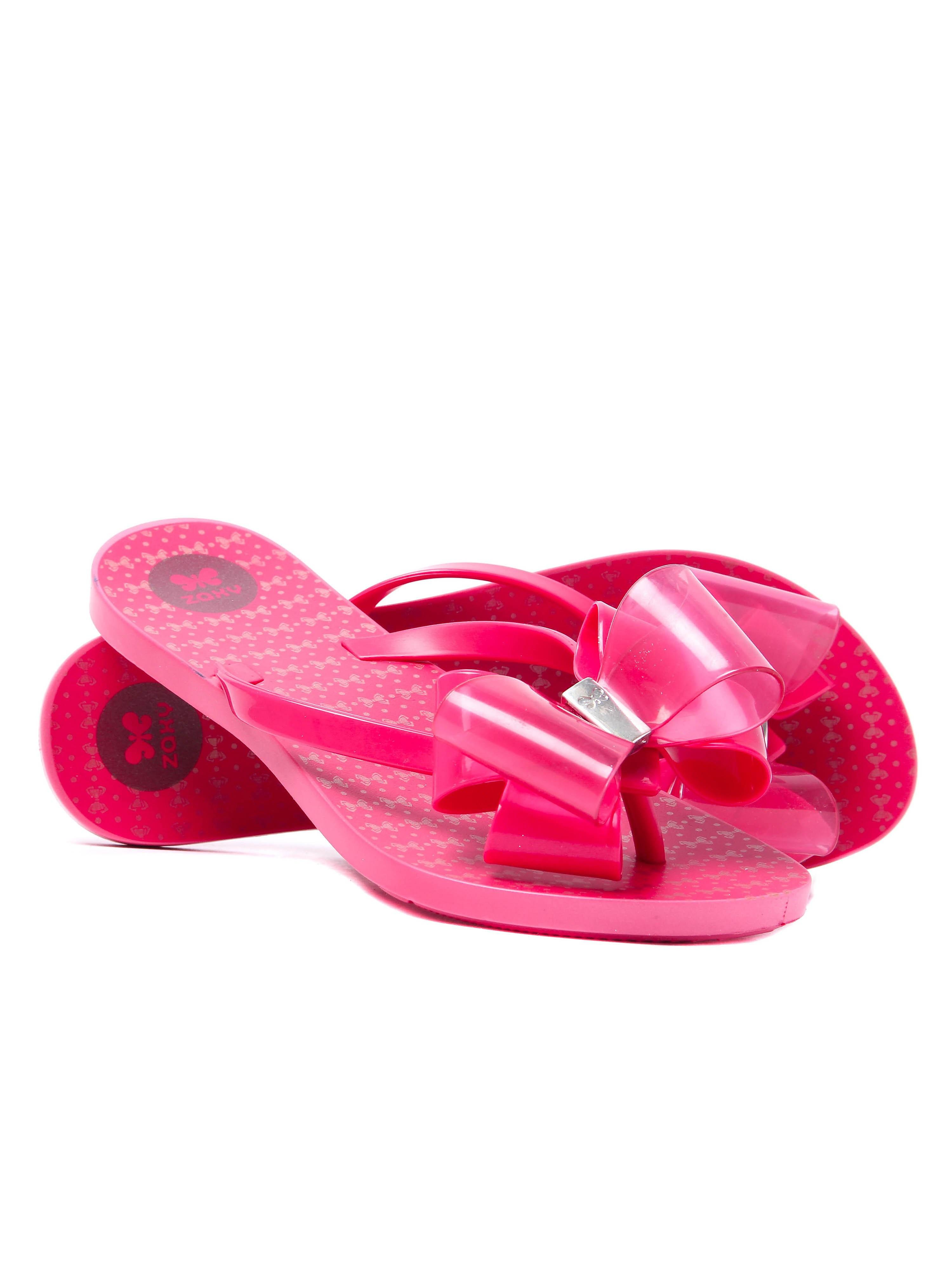 Zaxy Women's Link Twin Bow Flip Flop - Pink