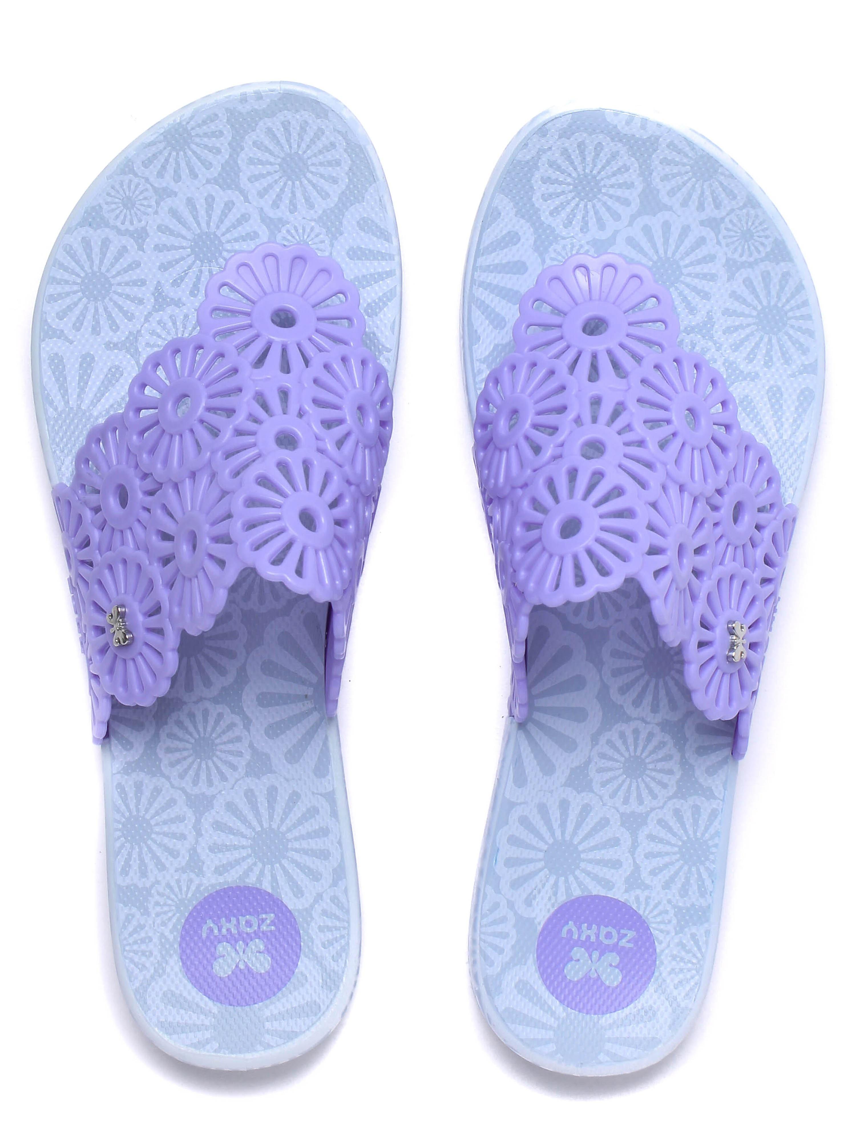 Zaxy Women's Intense Holiday Flip Flop - Lilac