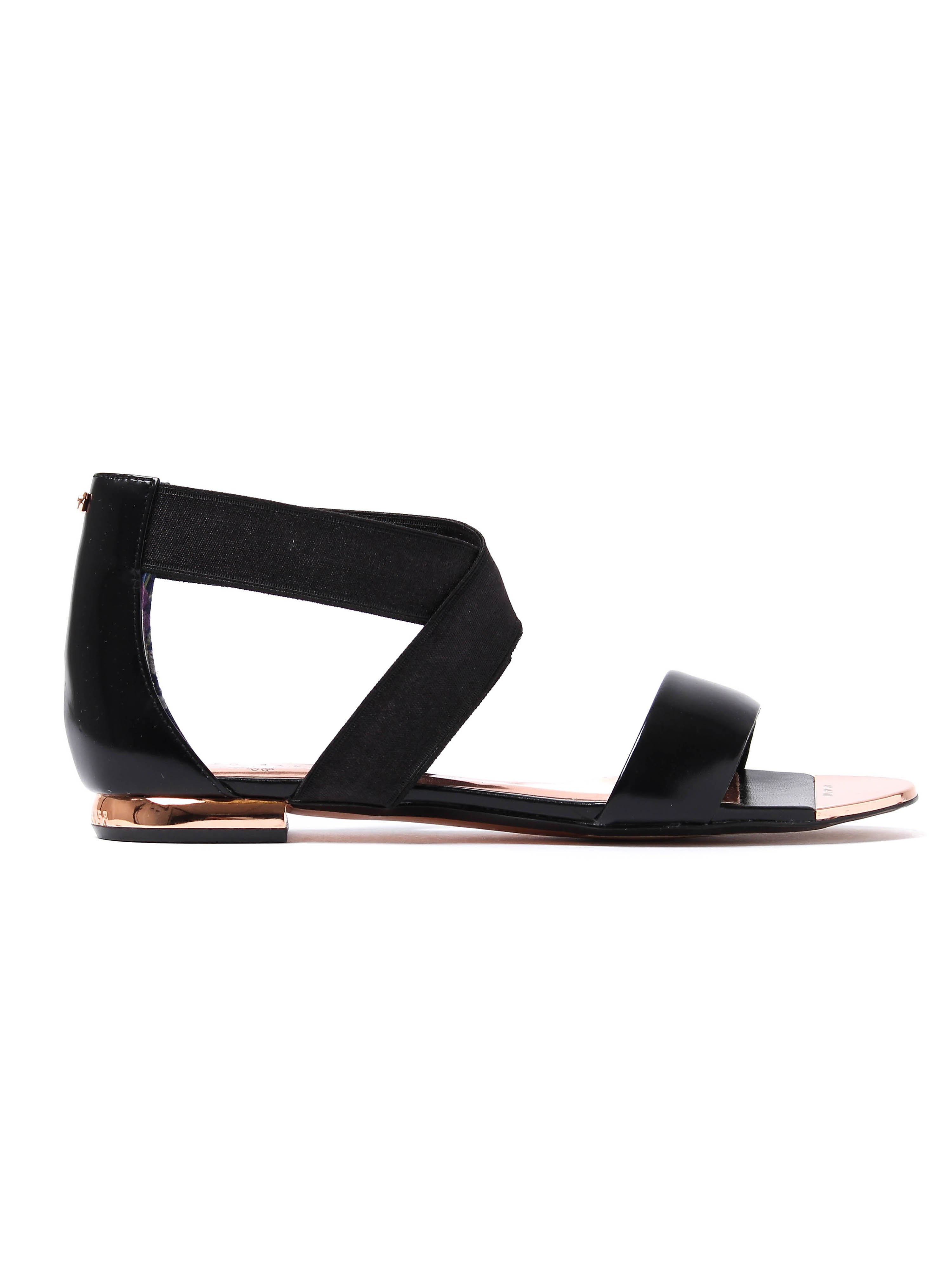Ted Baker Women's Laana Criss Cross Strap Sandals - Black Leather