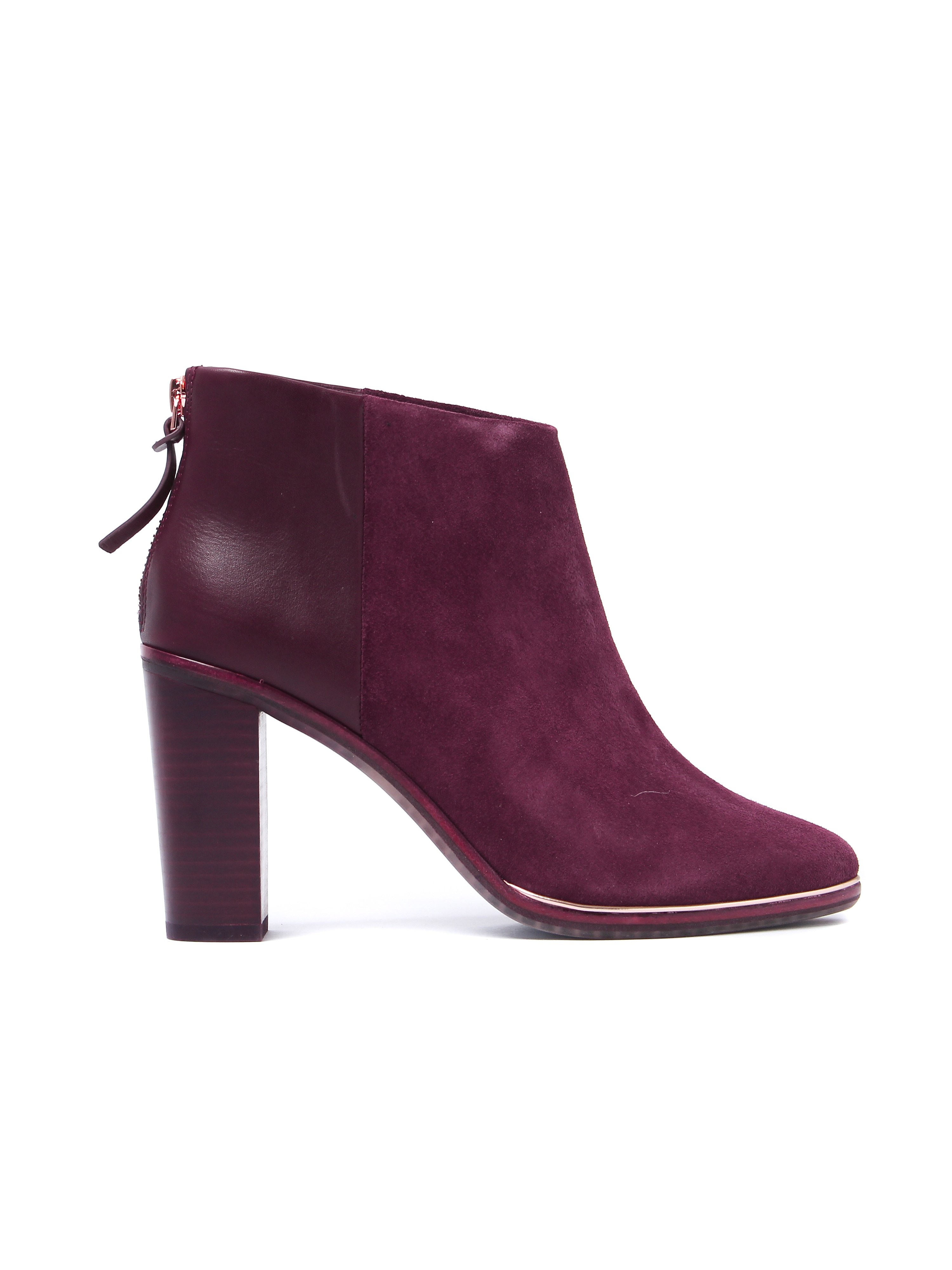 Ted Baker Women's Azalia Ankle Boots - Burgundy Suede