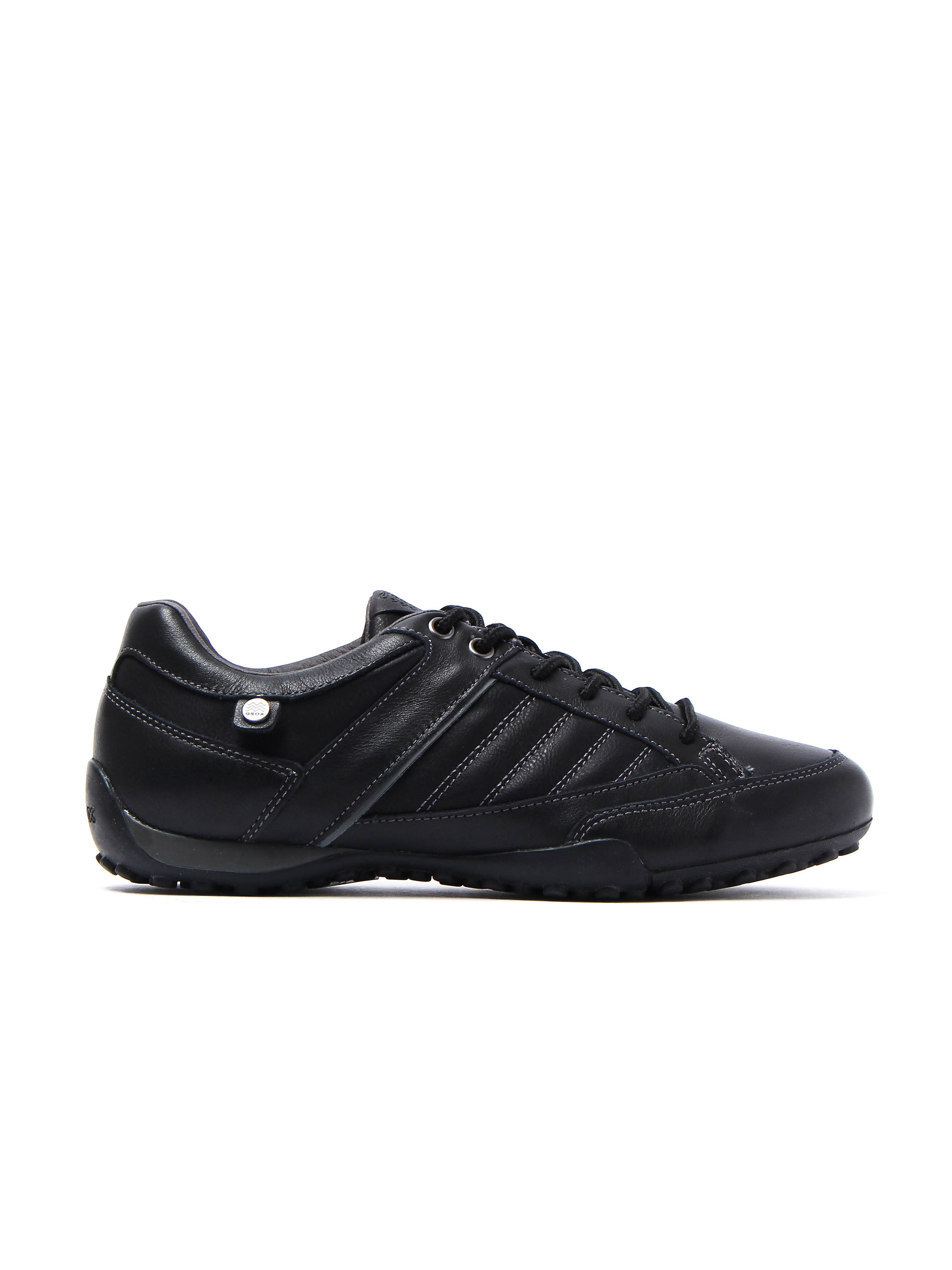 Geox Men's U Snake Trainers - Black Leather