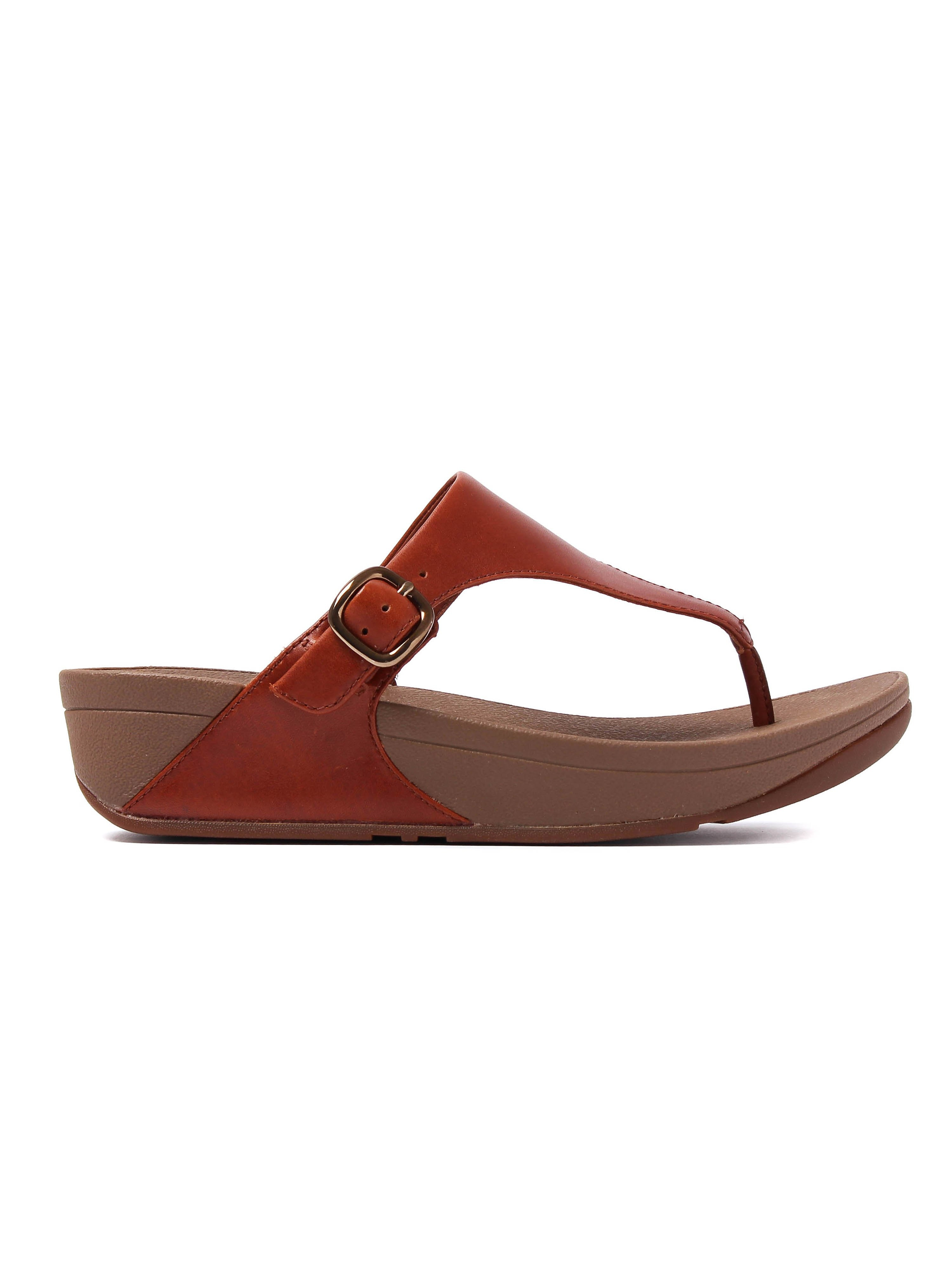 FitFlop Women's The Skinny Sandals - Dark Tan Leather