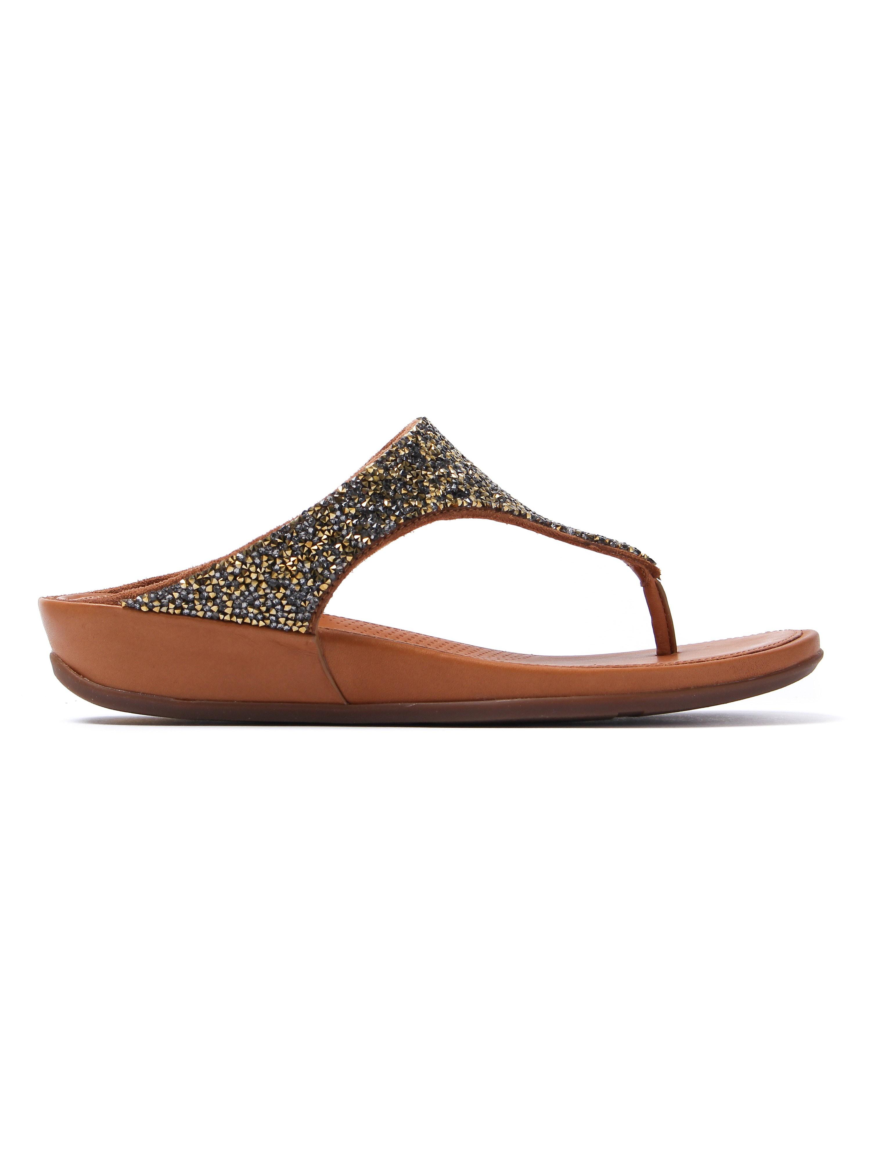 FitFlop Women's Banda Roxy Toe-Post Sandals - Bronze