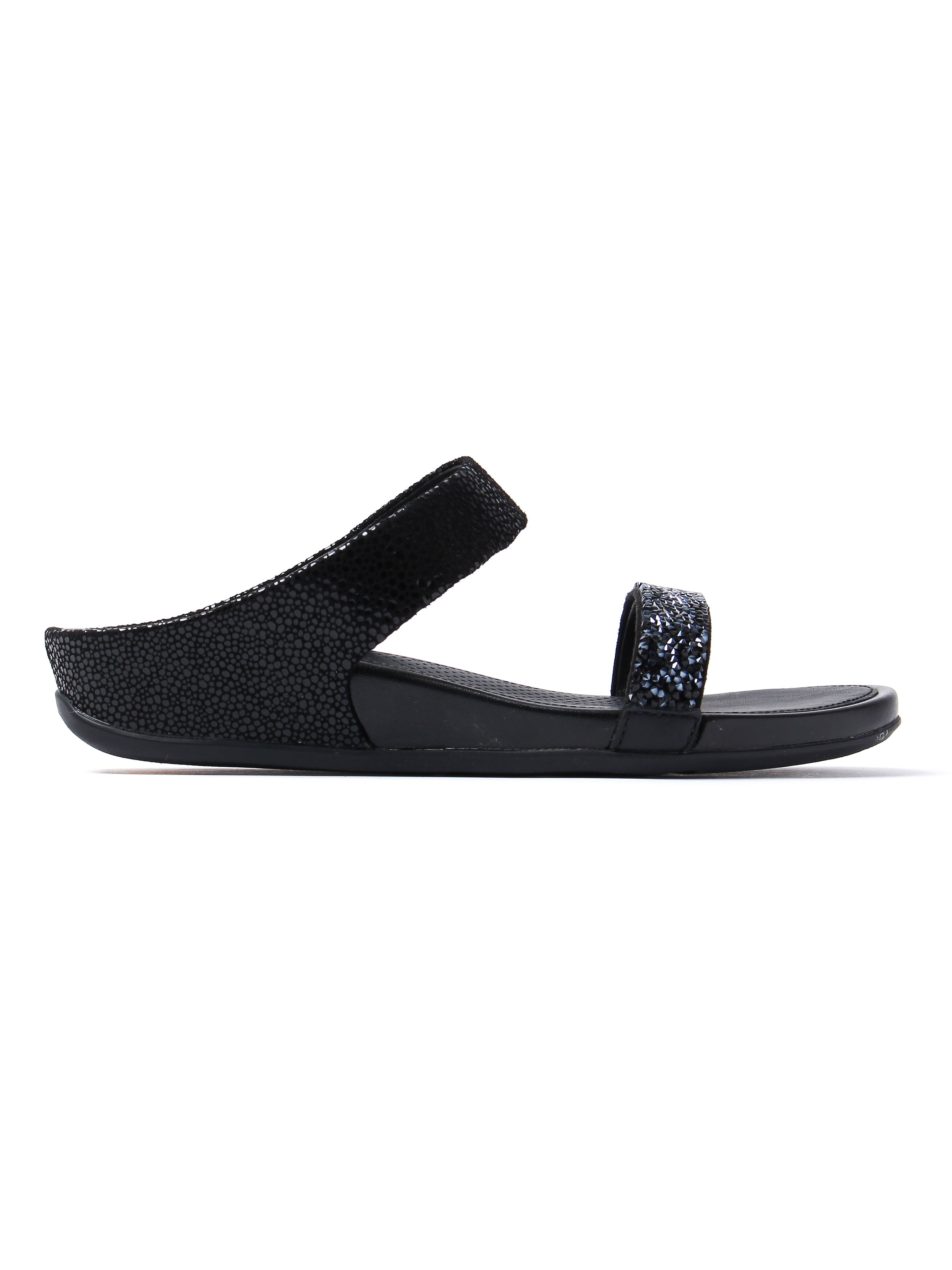 FitFlop Women's Banda Roxy Slide Sandals - Black
