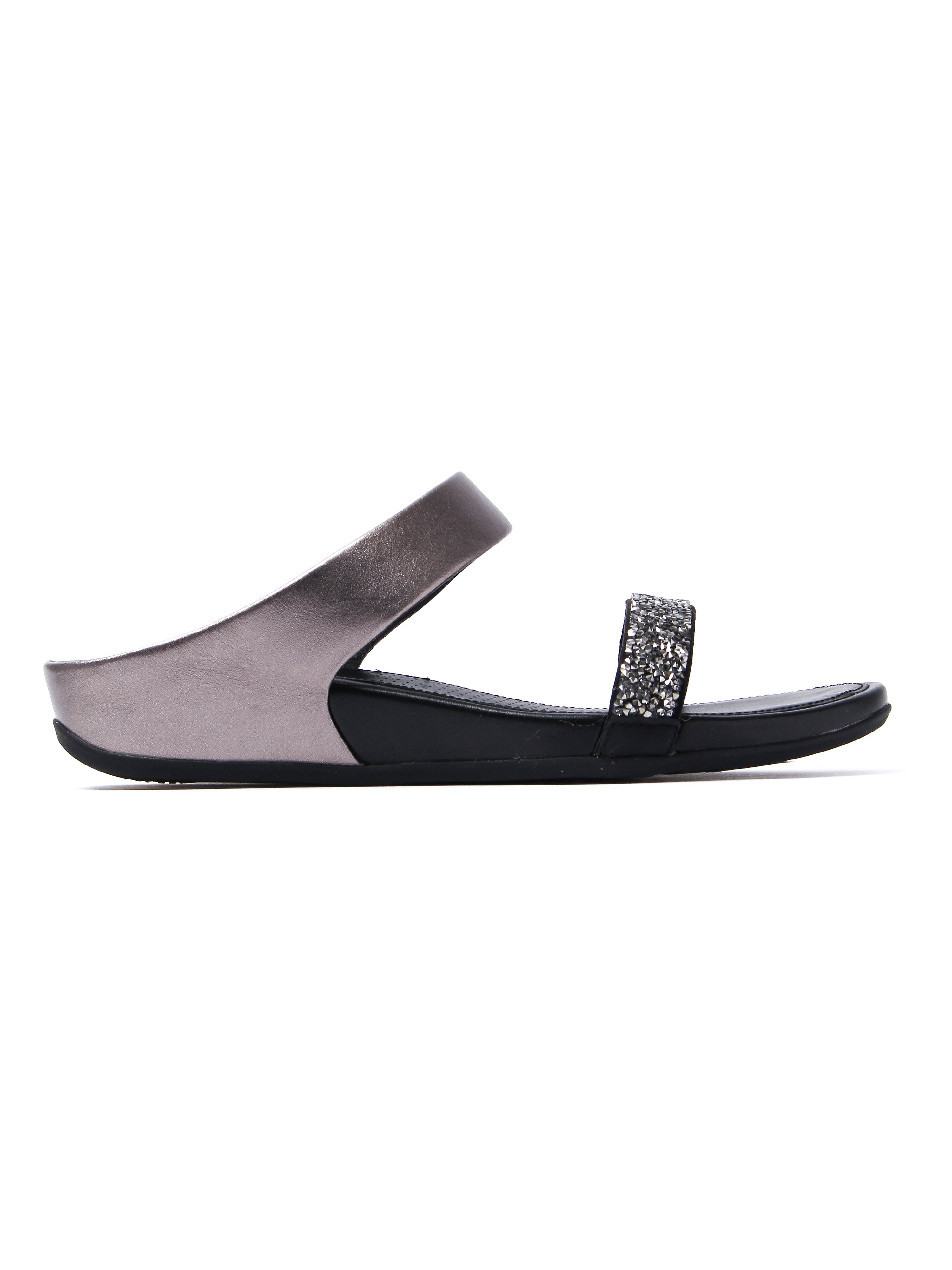 FitFlop Women's Banda Roxy Slide Sandals - Pewter