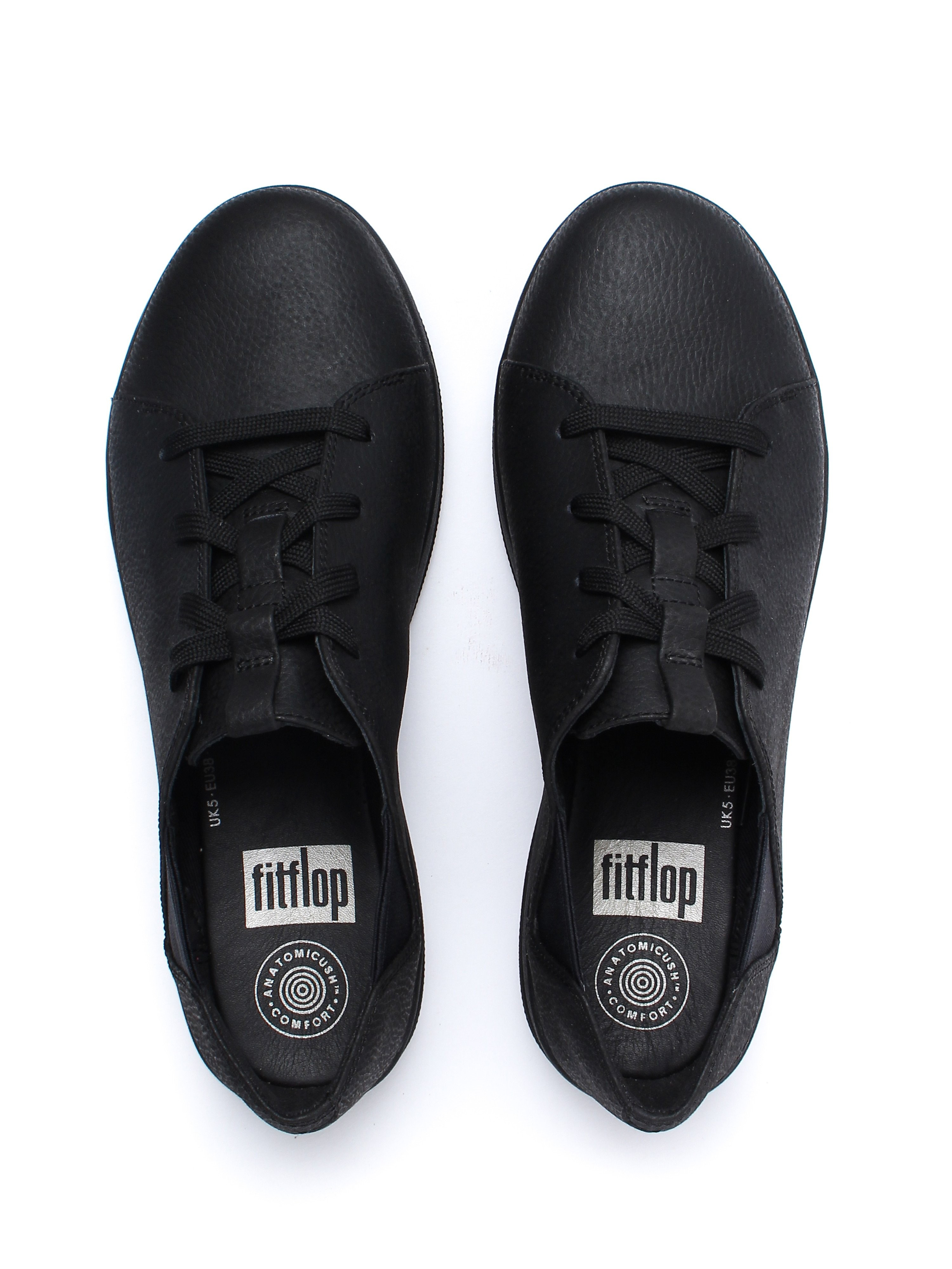FitFlop Women's F-Sporty Lace Up Trainers - Black Leather