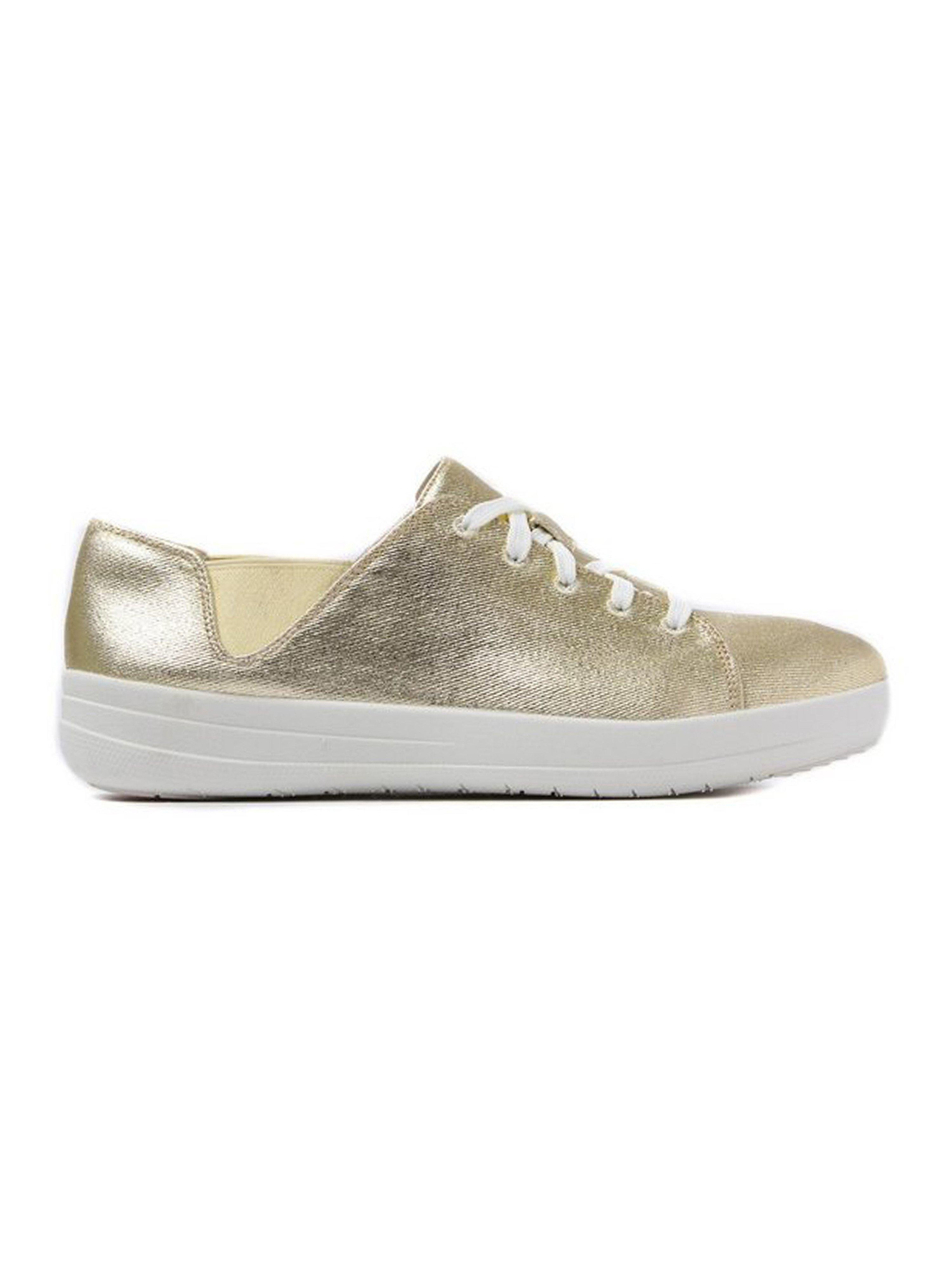 FitFlop Women's F-Sporty Lace Up Sneakers - Gold