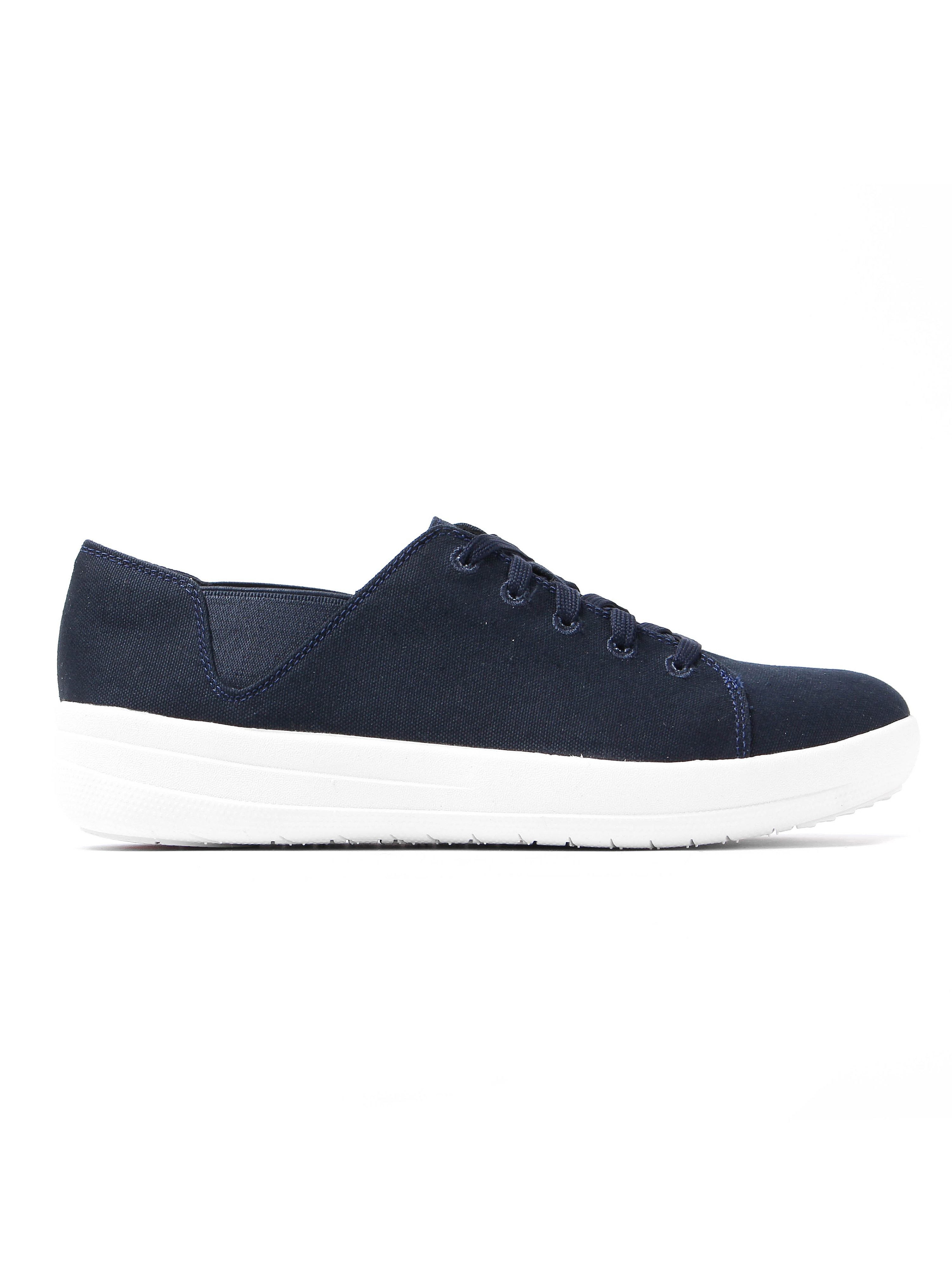 FitFlop Women's F-Sporty Canvas Trainers - Supernavy