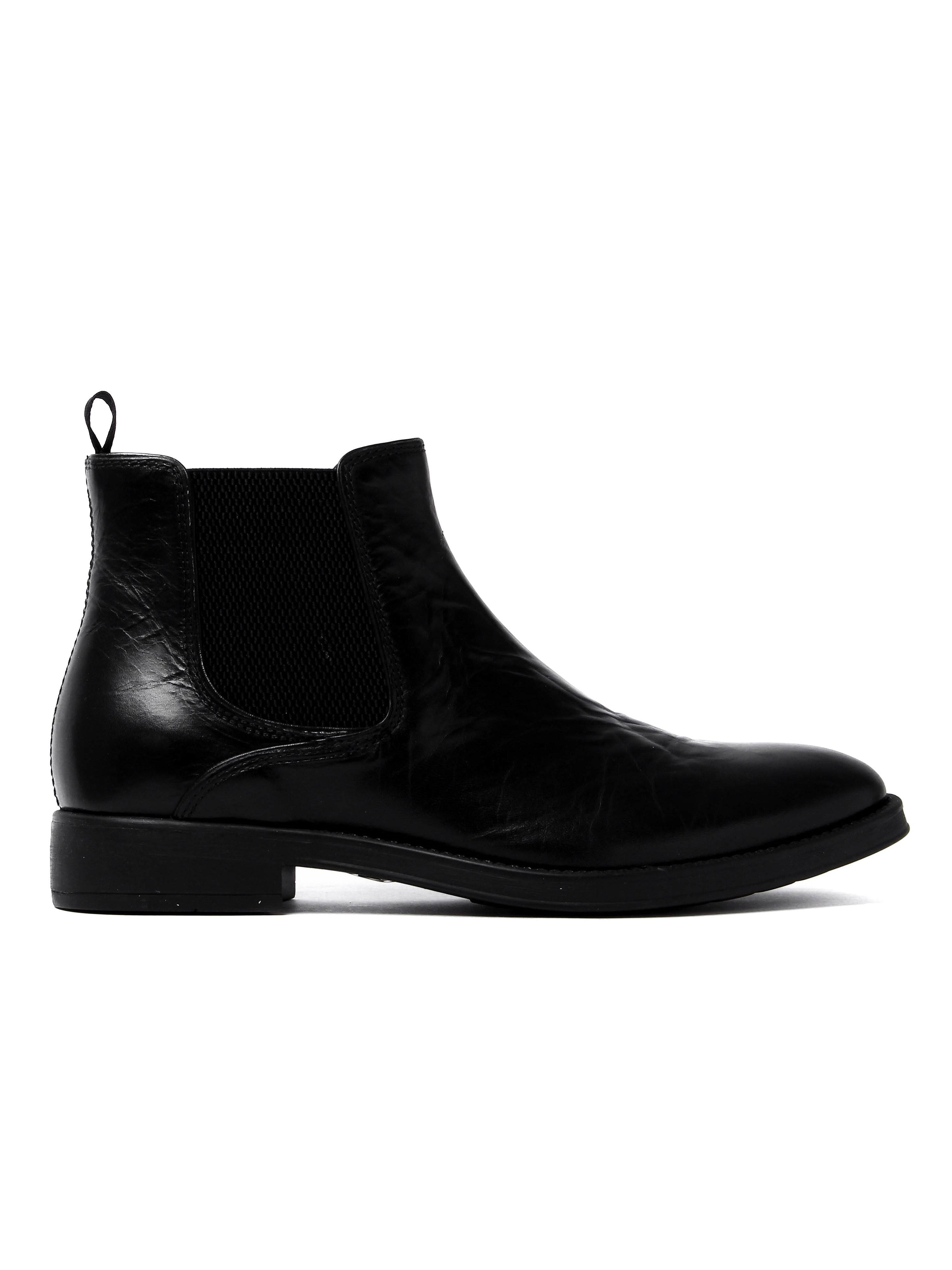 Geox Men's Blaxe Chelsea Boots - Black Leather