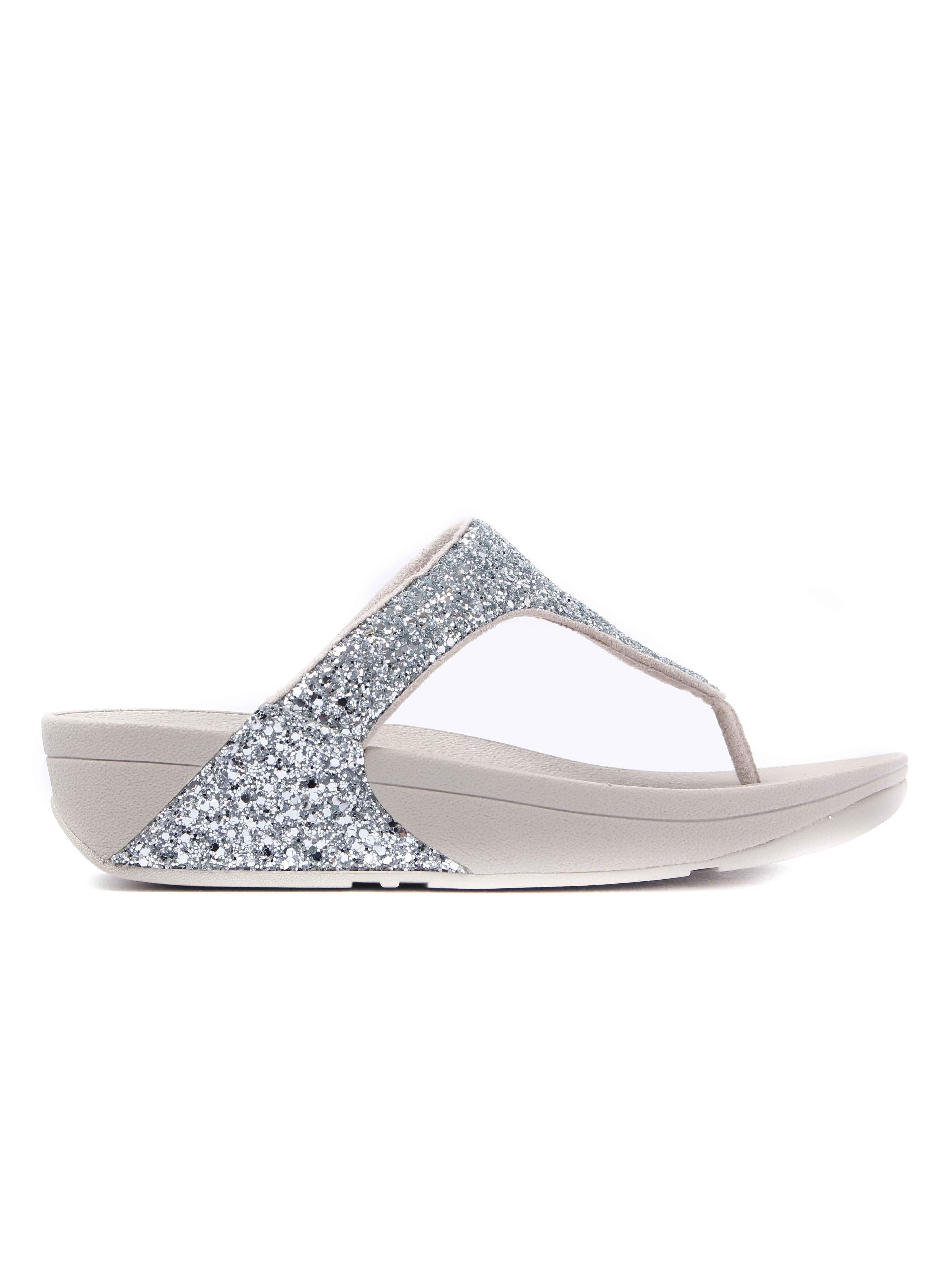 FitFlop Women's Glitterball Toe-Post Sandals - Silver