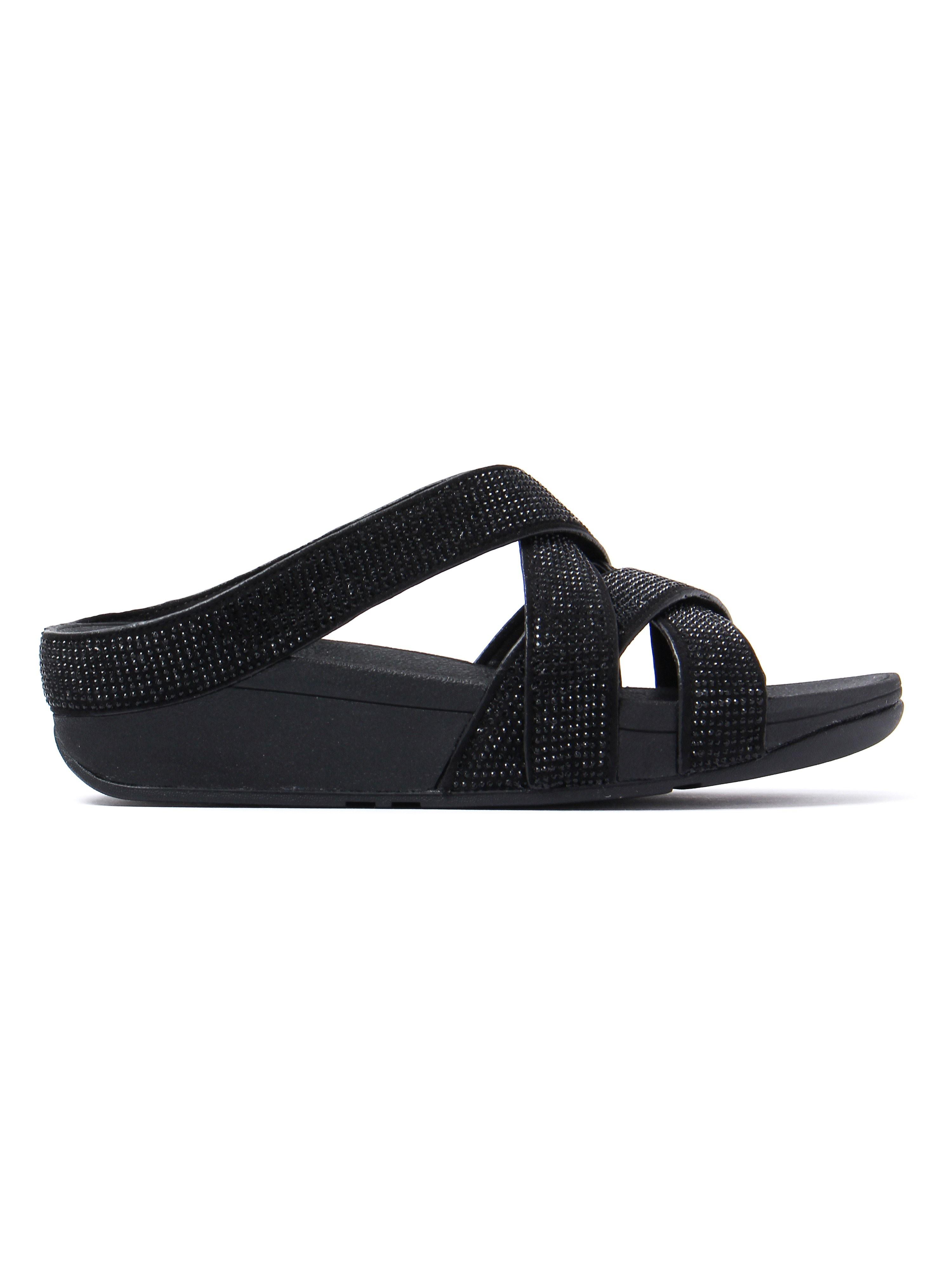 FitFlop Women's Slinky Rokkit Slide Sandals - Black