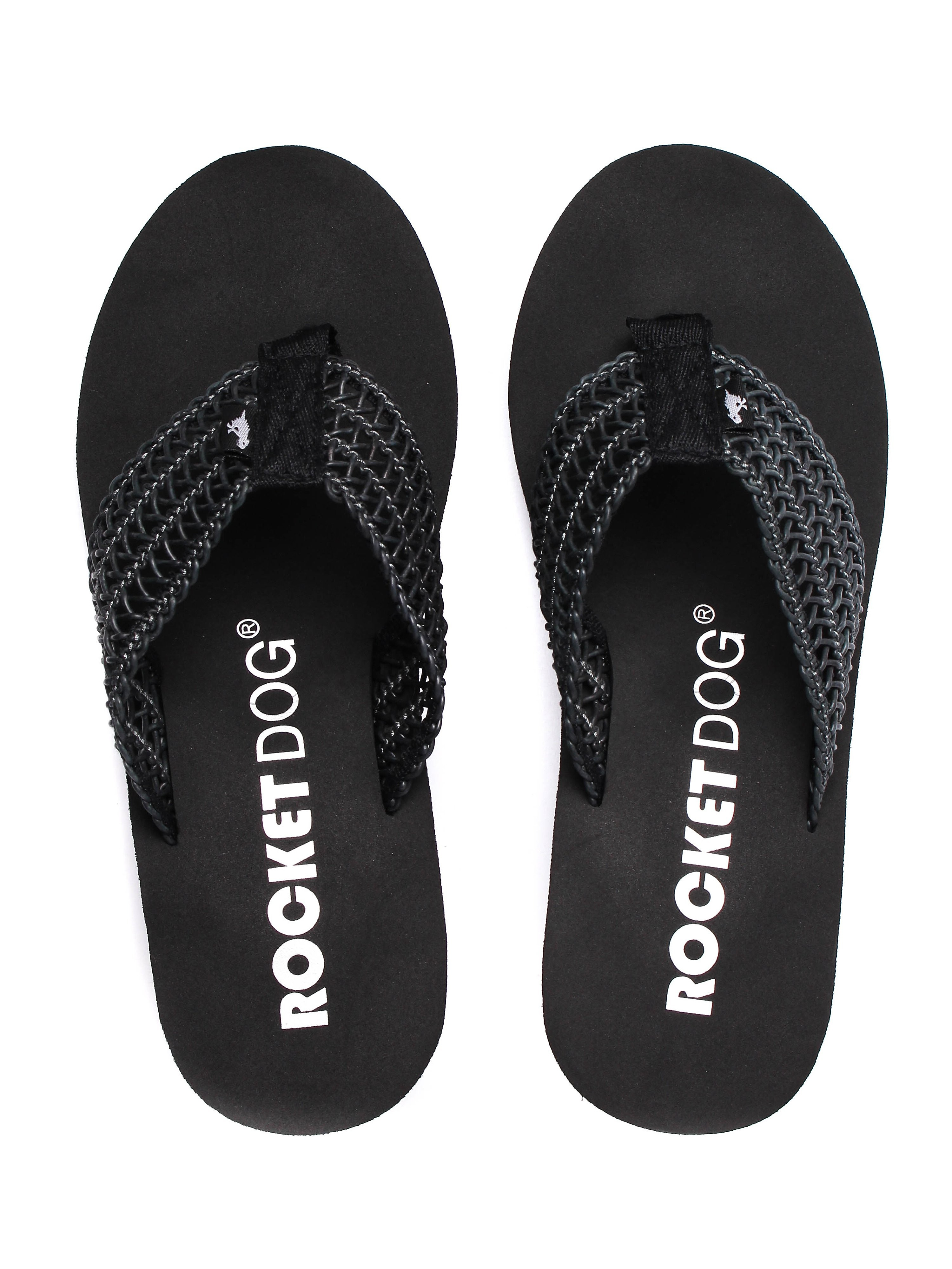Rocket Dog Women's Divers Swella Wedge Flip Flops - Black