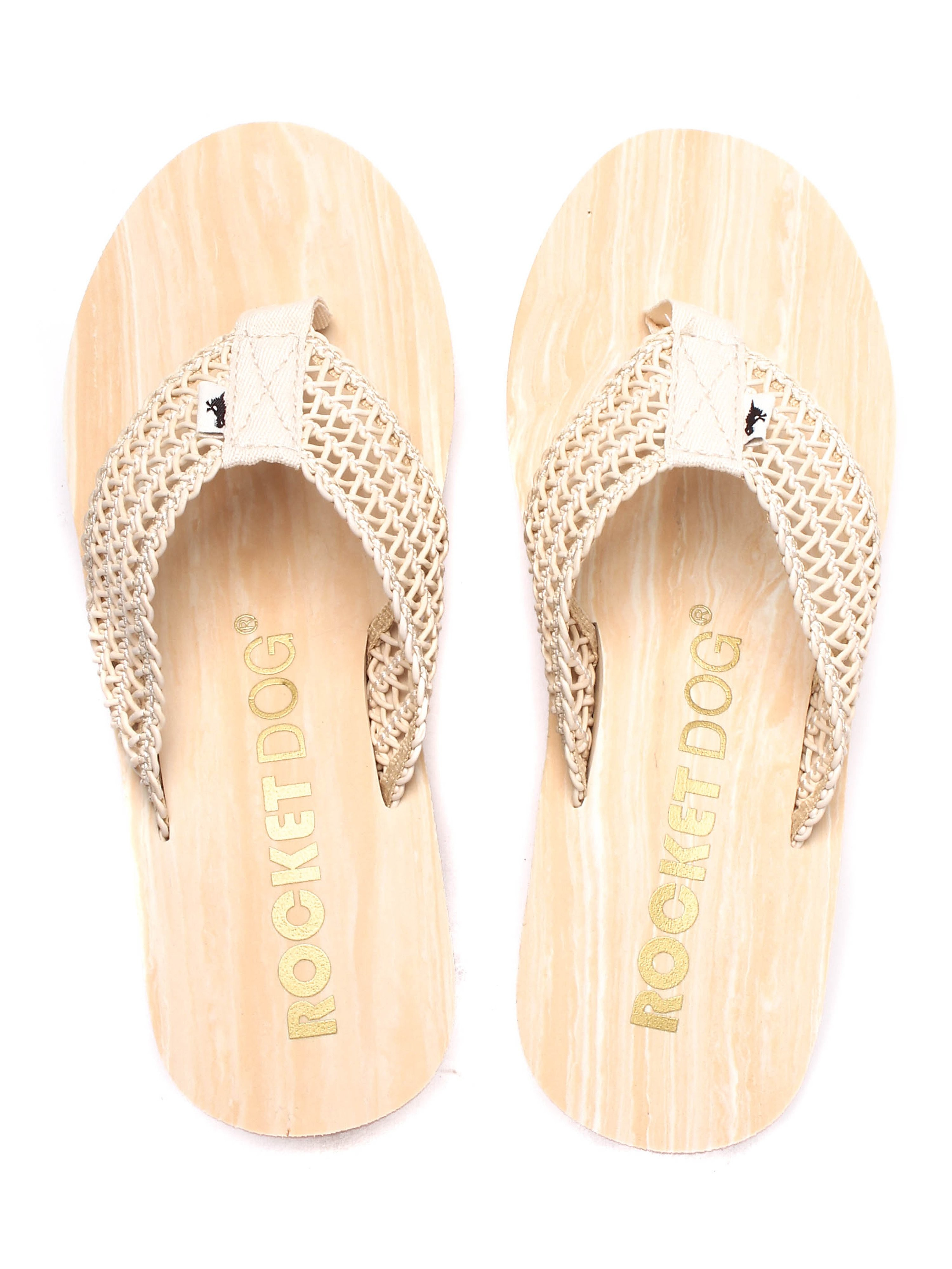 Rocket Dog Women's Divers Swella Wedge Flip Flops - Natural