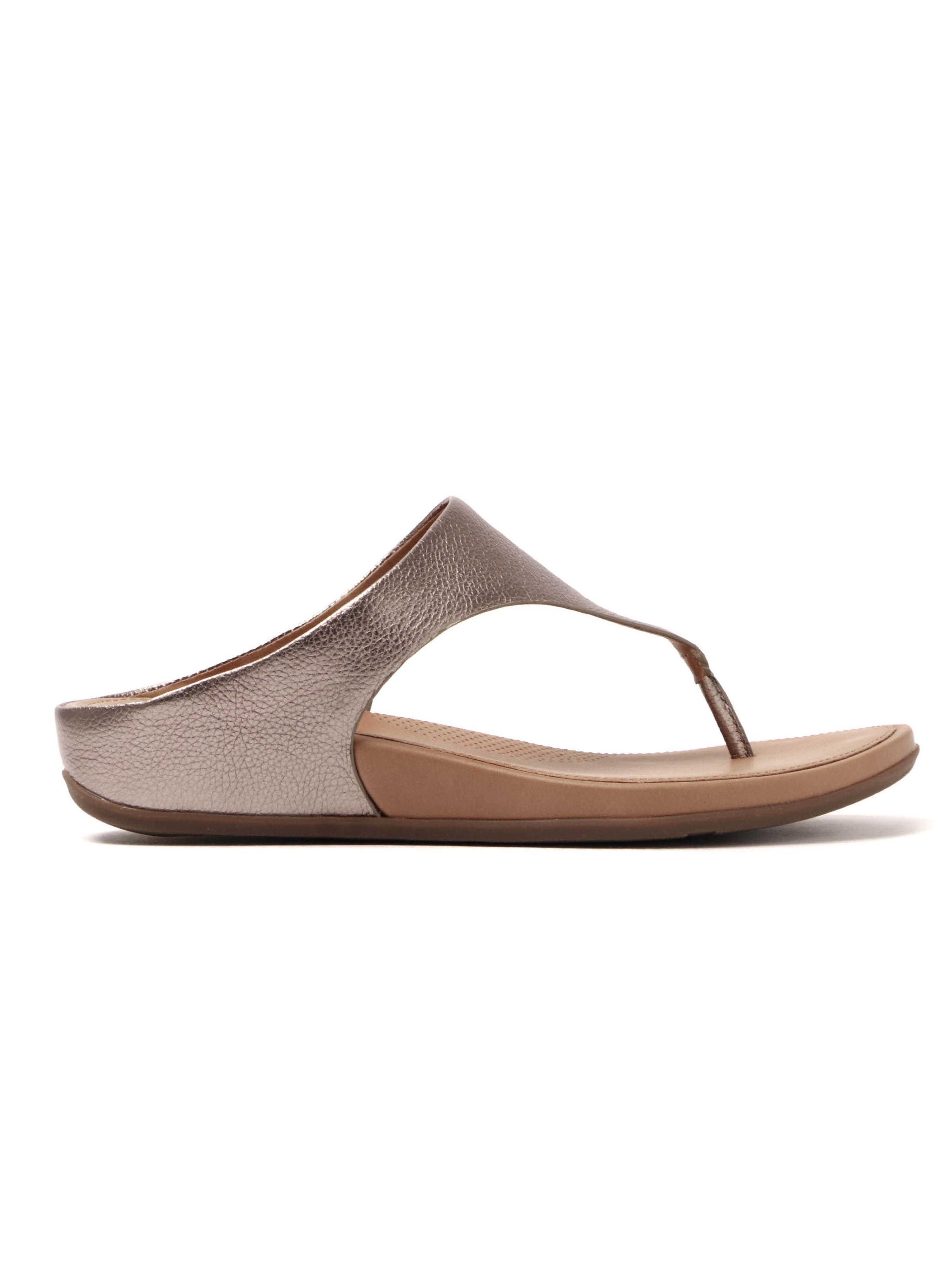 FitFlop Women's Banda Metallic Toe-Post Sandals - Bronze Leather