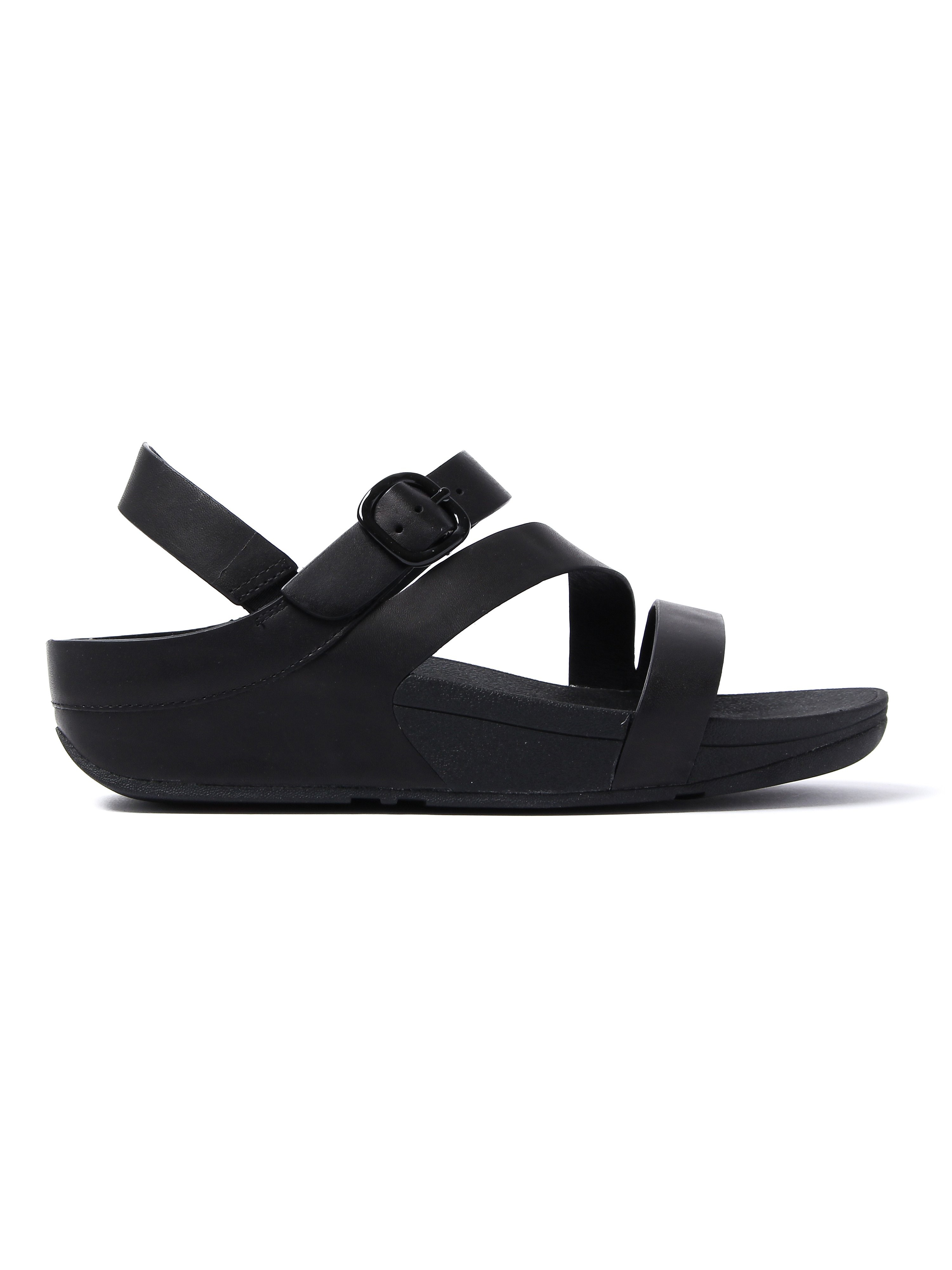 FitFlop Women's The Skinny Z-Cross Sandals - Black Leather