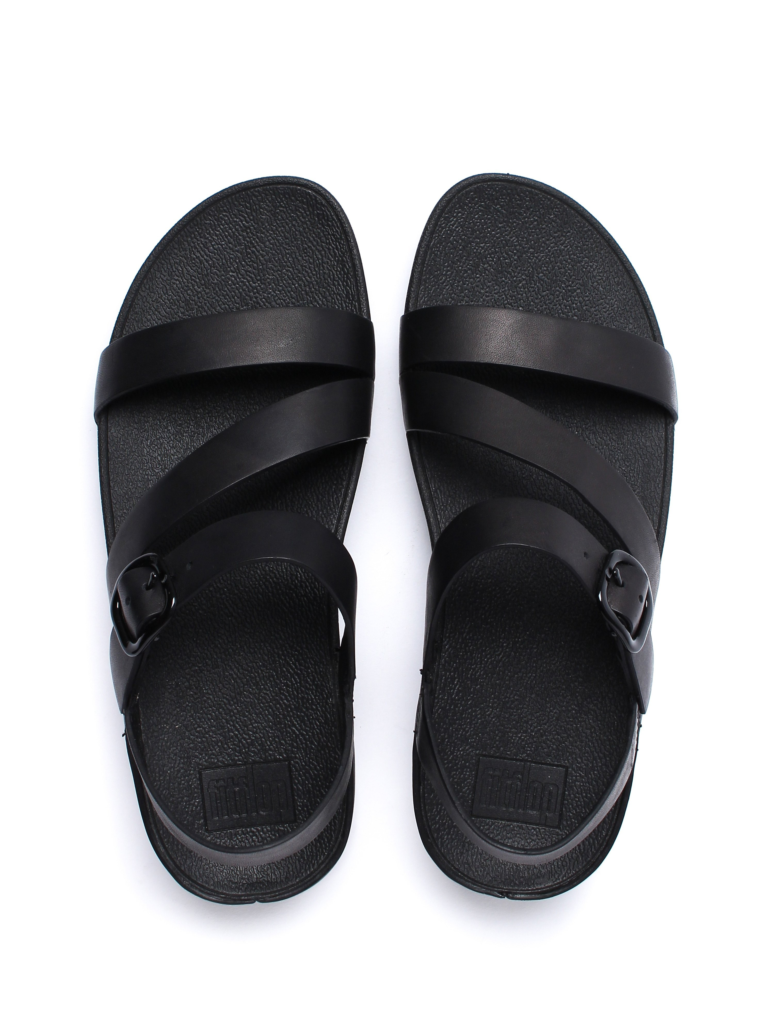 FitFlop Women's The Skinny Z-Cross Sandals - Black Leather