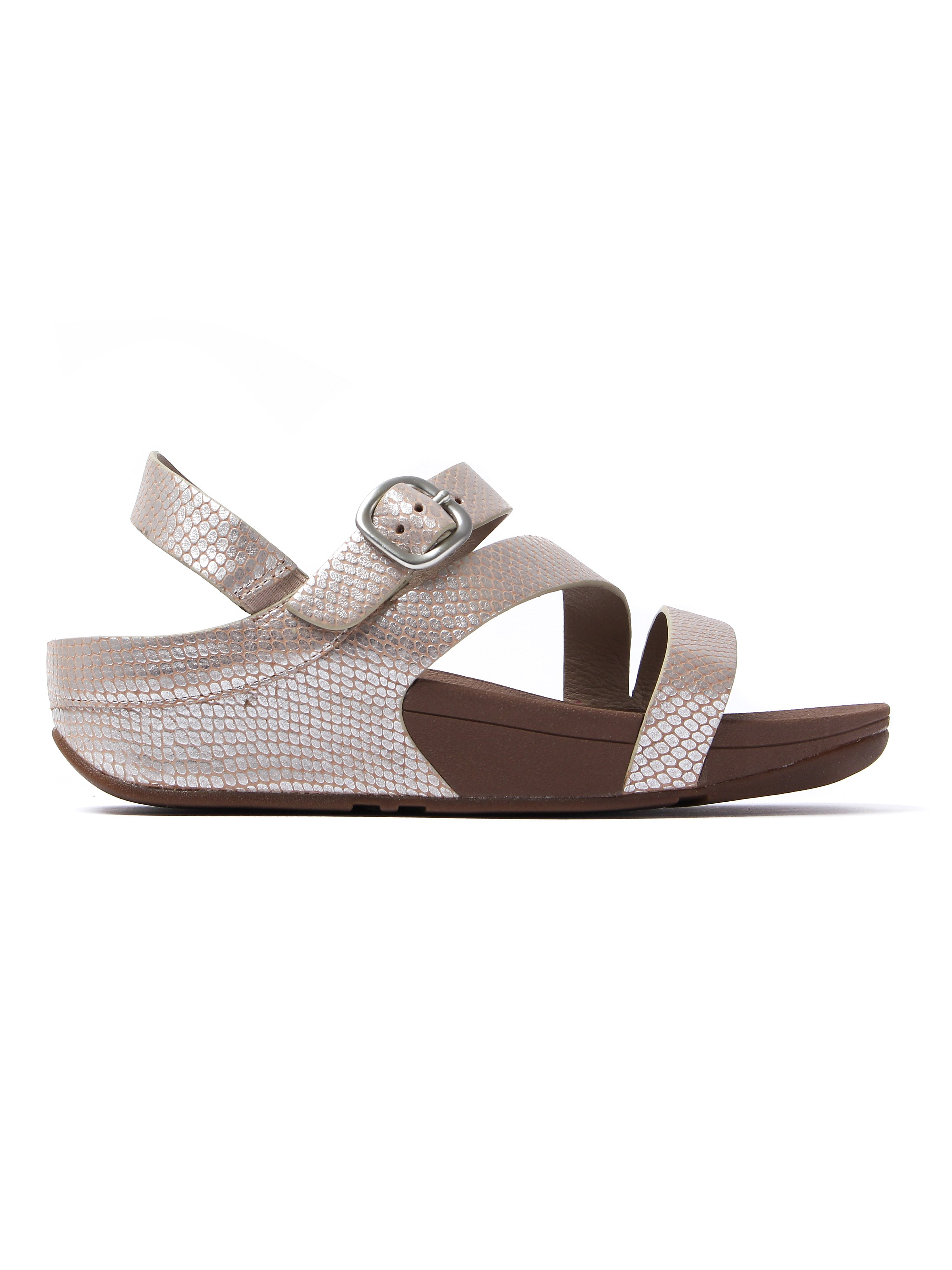 FitFlop Women's The Skinny Z-Cross Sandals - Silver Snake Skin