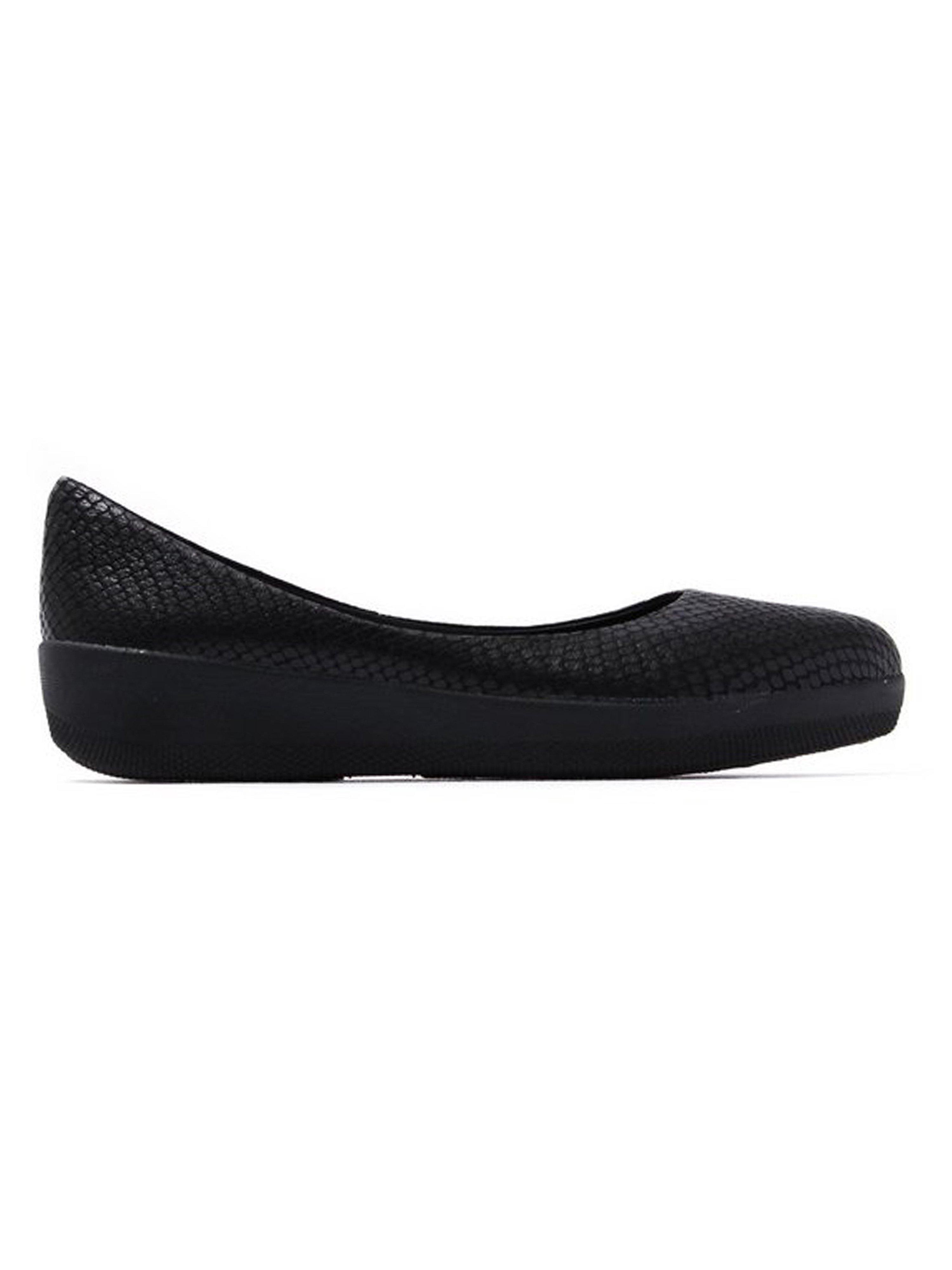 FitFlop Women's Superballerina Shoes - Black Snake