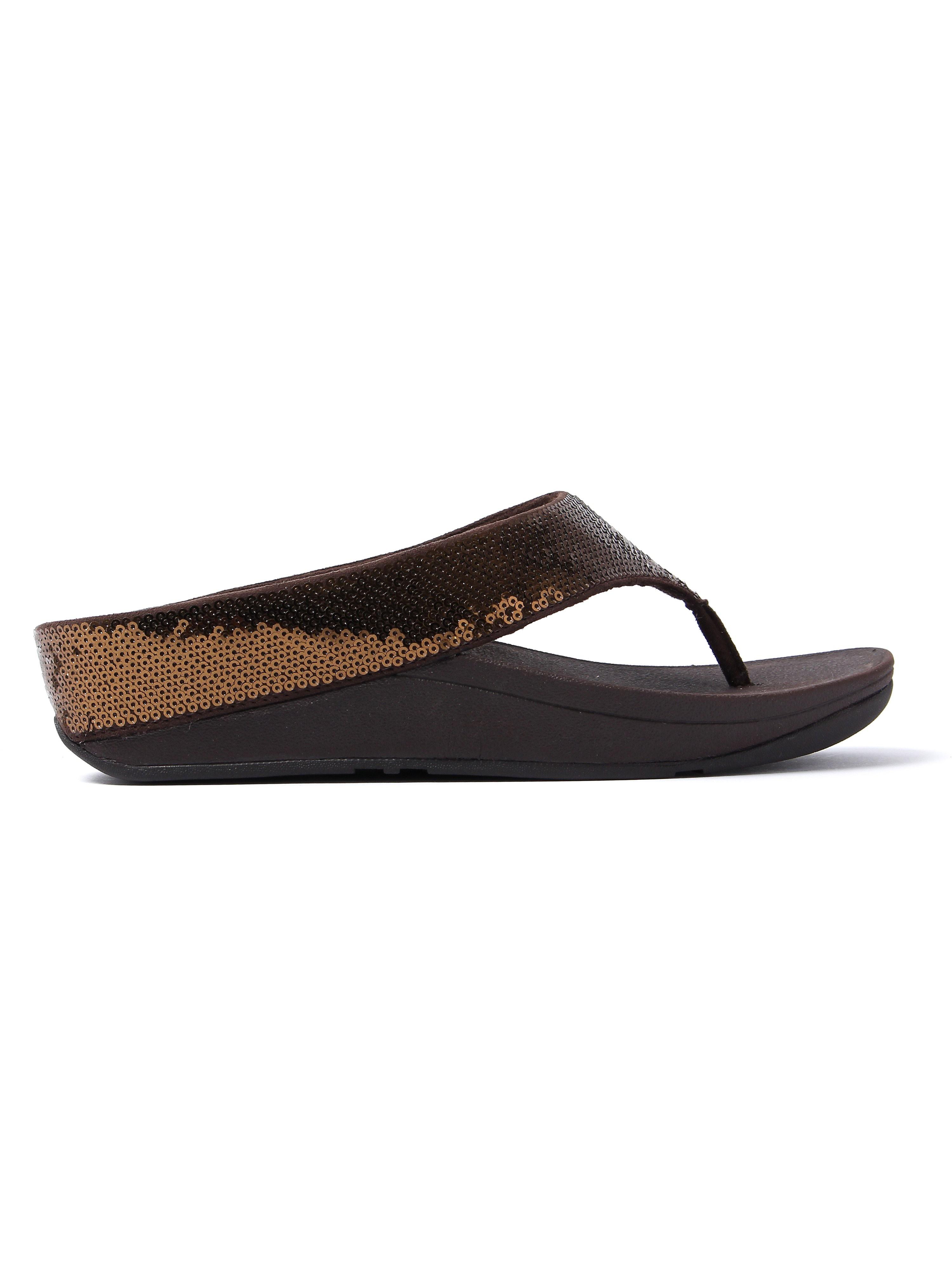 FitFlop Women's Ringer Sequin Sandals - Bronze