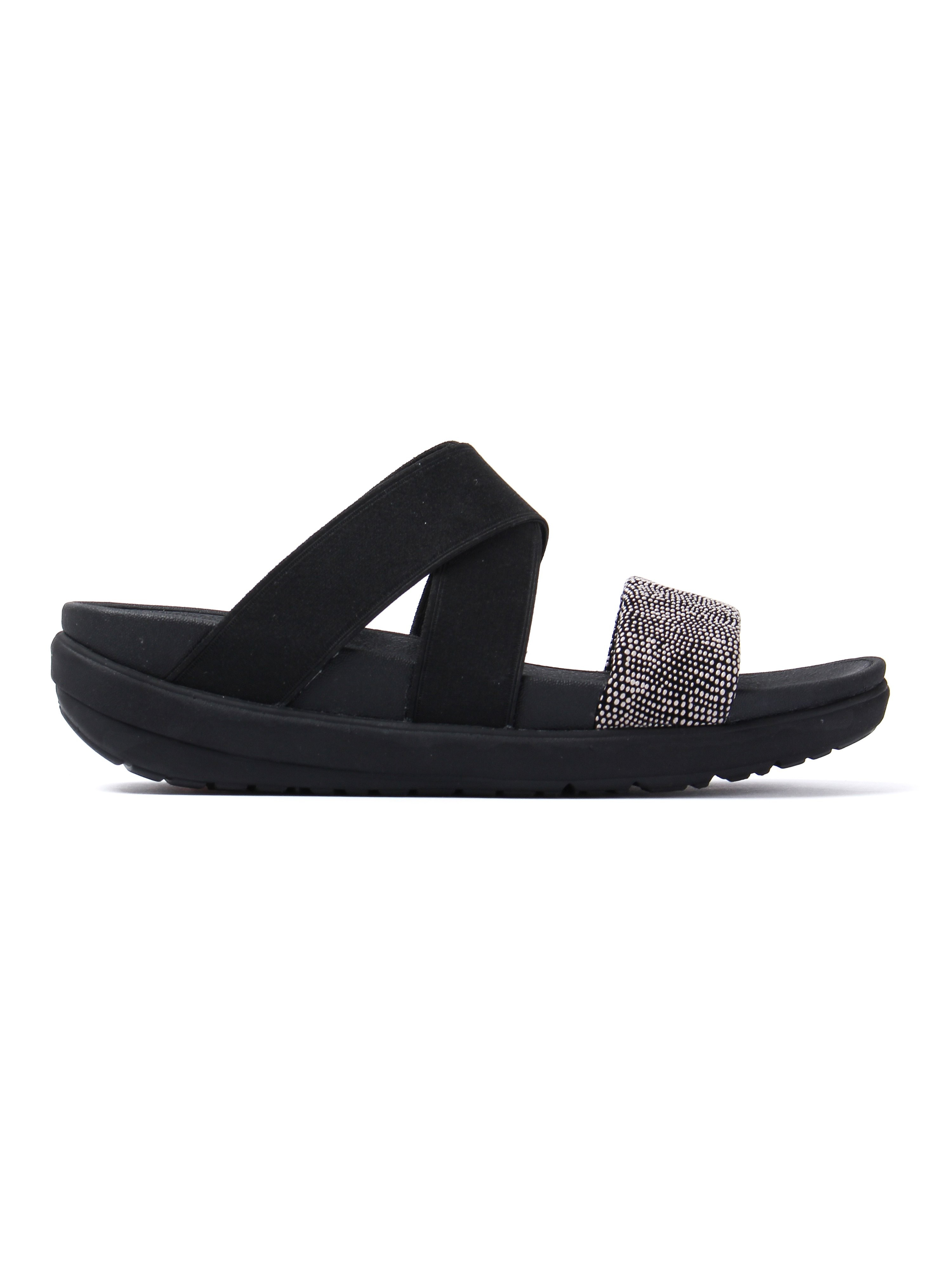 FitFlop Women's Loosh Crossover Sandals - Black Pebbledash