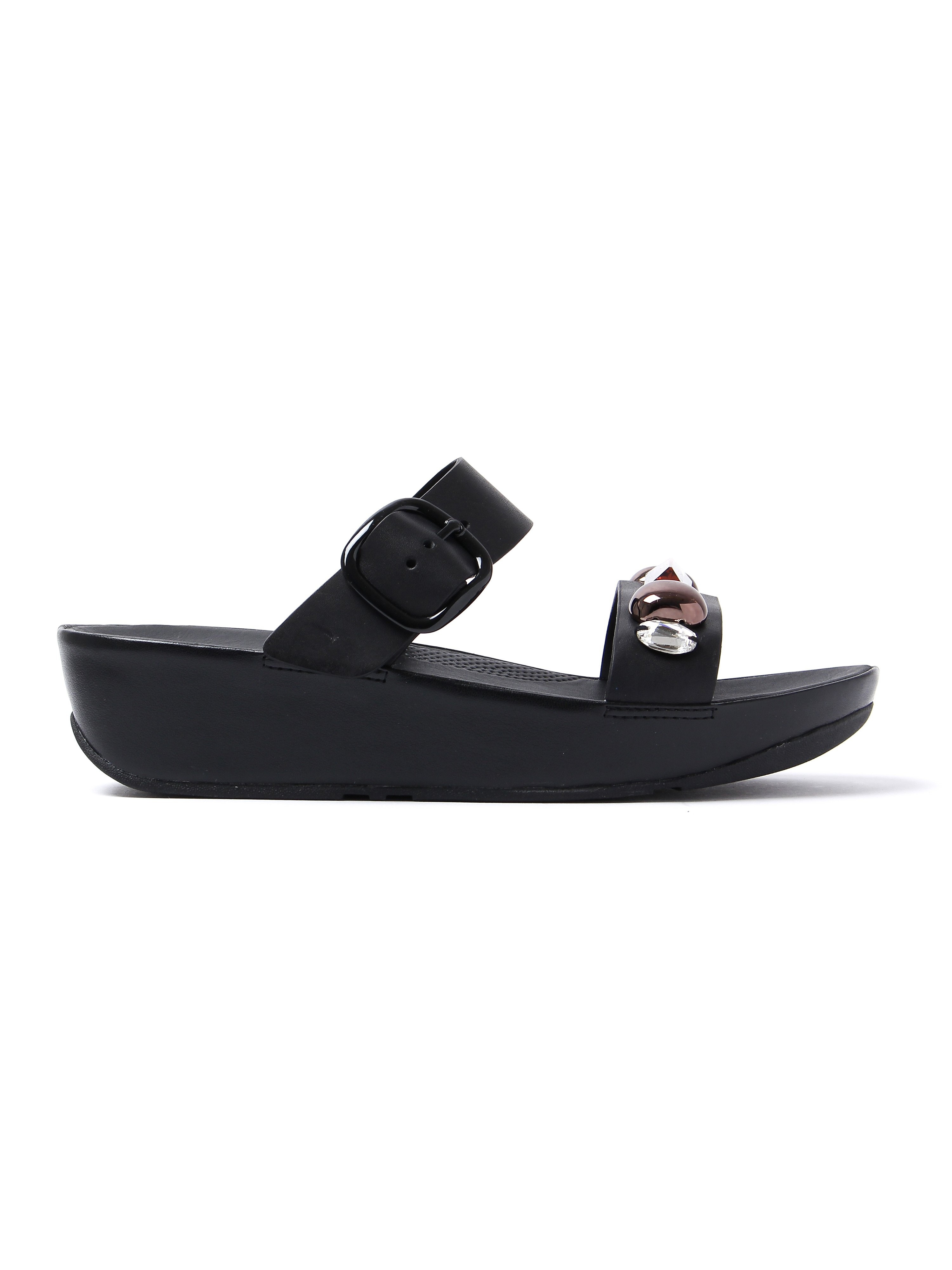 FitFlop Women's Jeweley Slide Sandals - Black