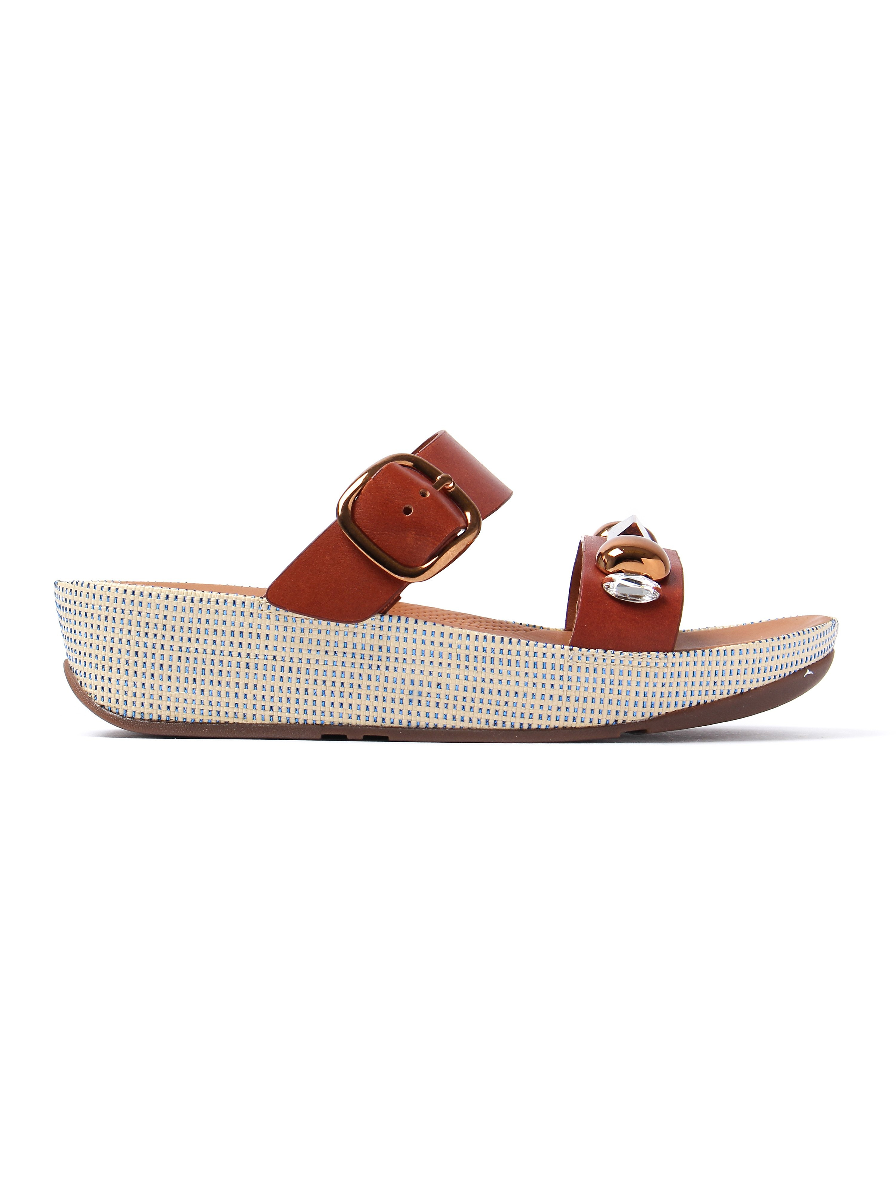 FitFlop Women's Jeweley Slide Sandals - Dark Tan