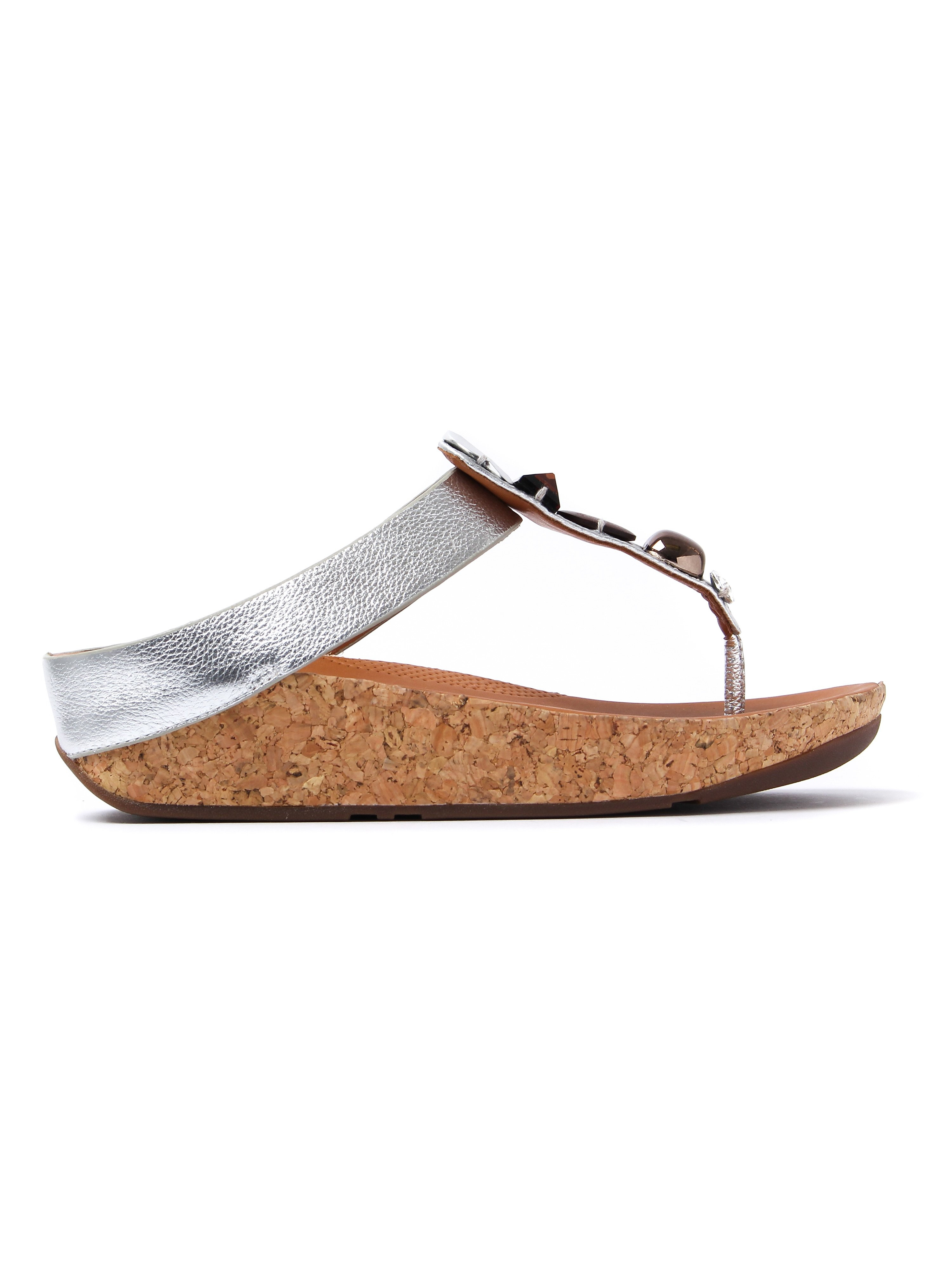 FitFlop Women's Jeweley Toe-Post Sandals - Silver