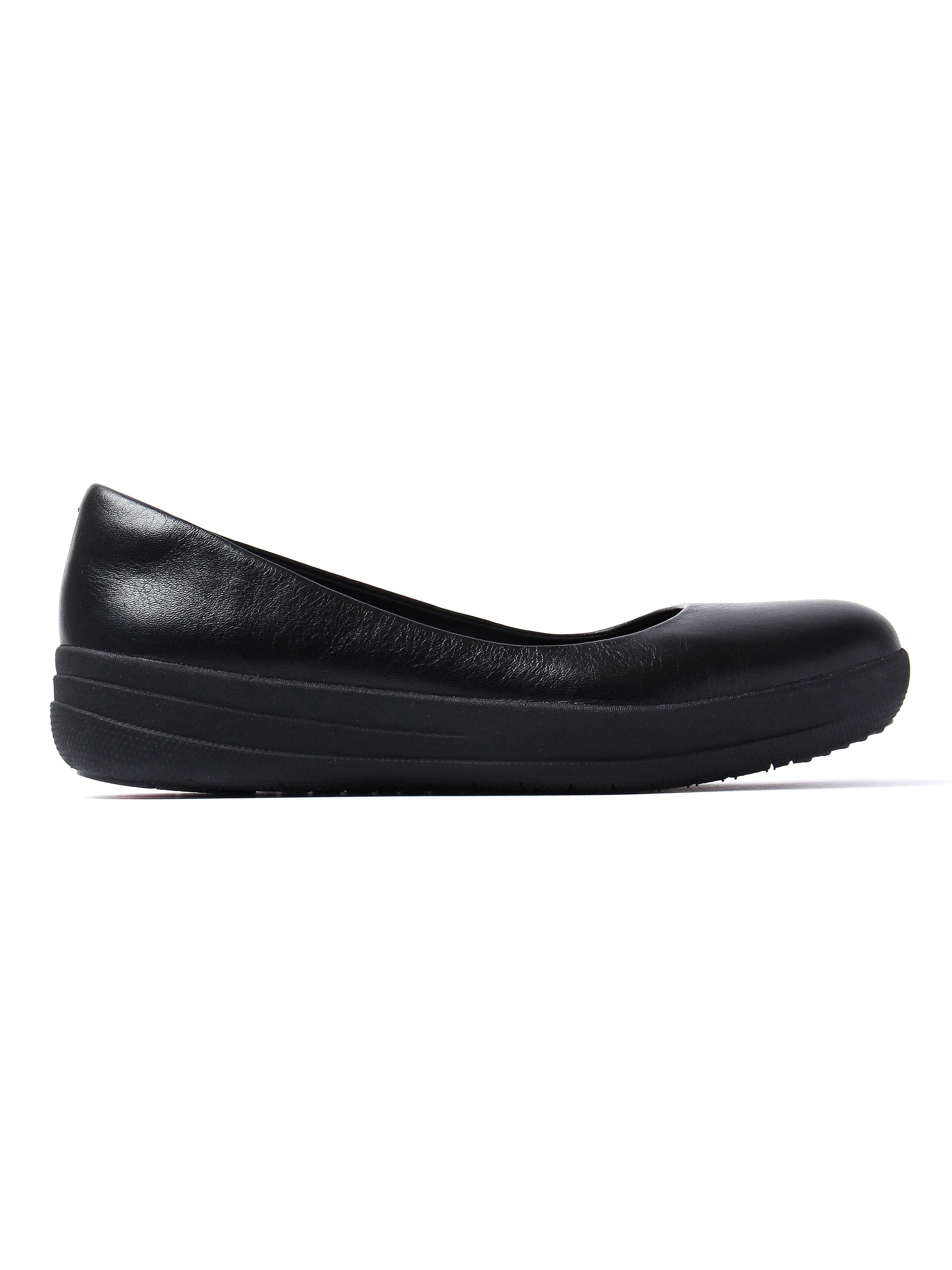 FitFlop Women's Adoraballerina Ballerina Shoes - All Black Leather