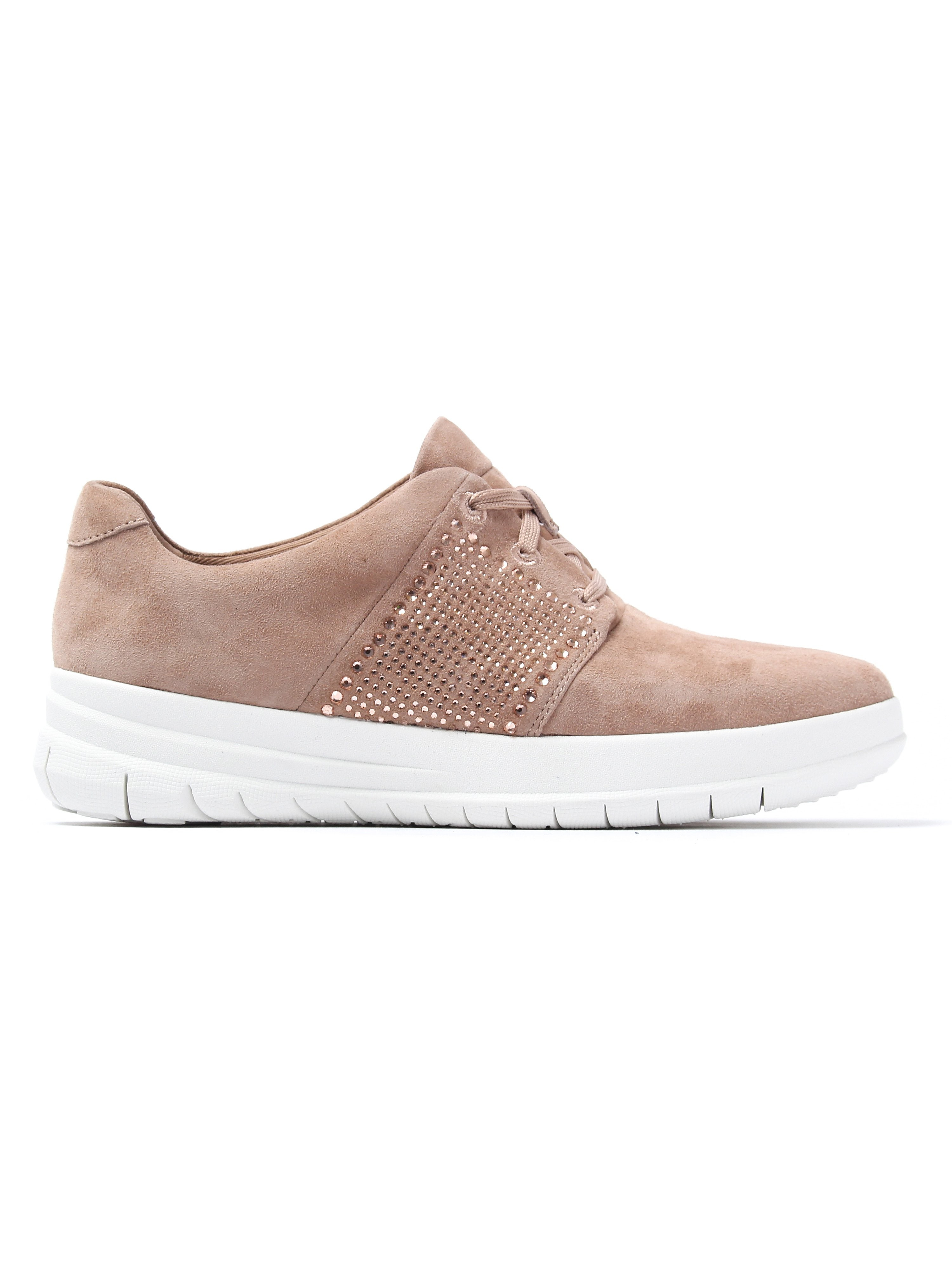 FitFlop Women's Sporty-Pop X-Crystal Trainers - Mocha