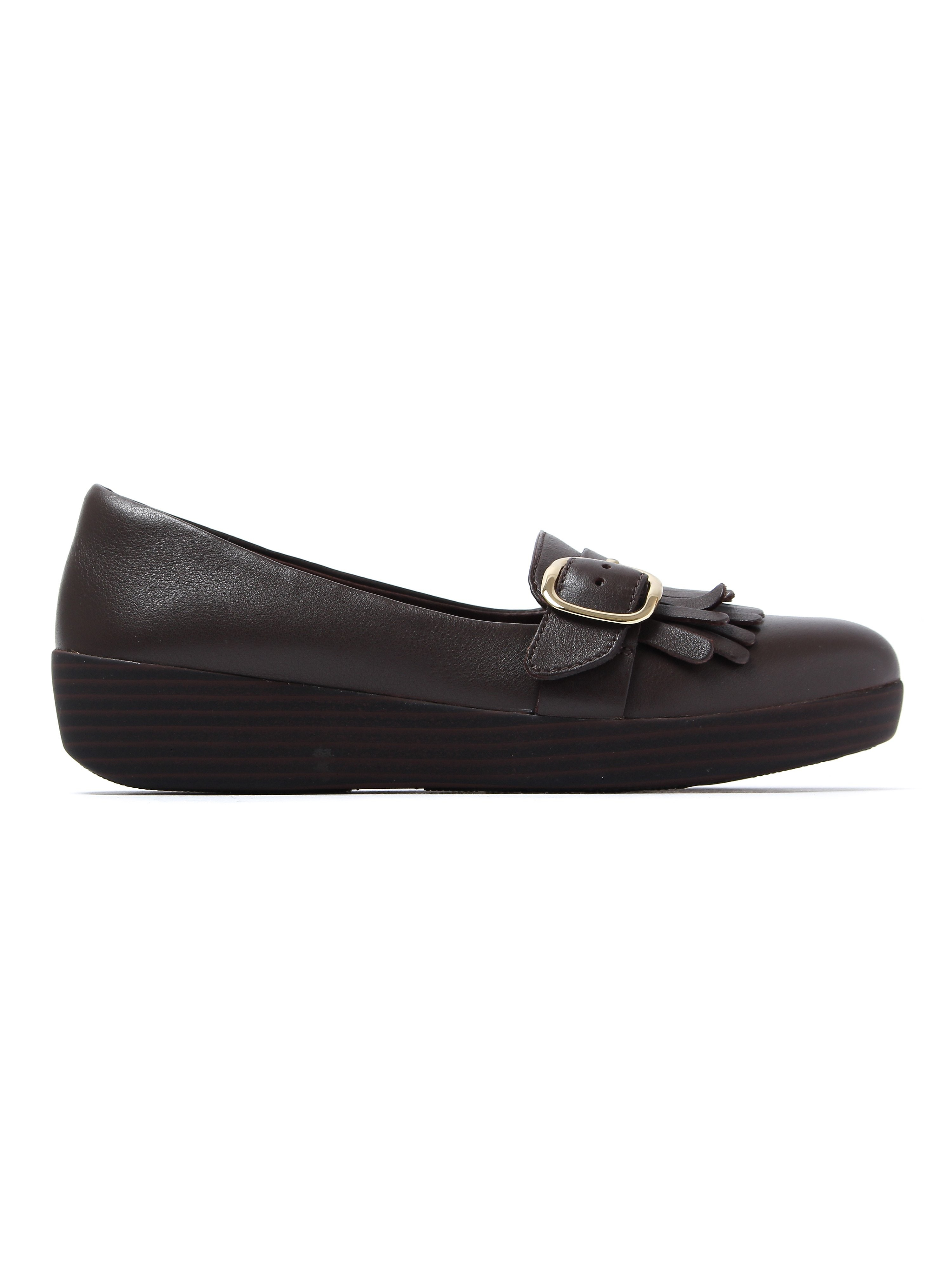 FitFlop Women's Buckle Sneakerloafers - Chocolate Brown