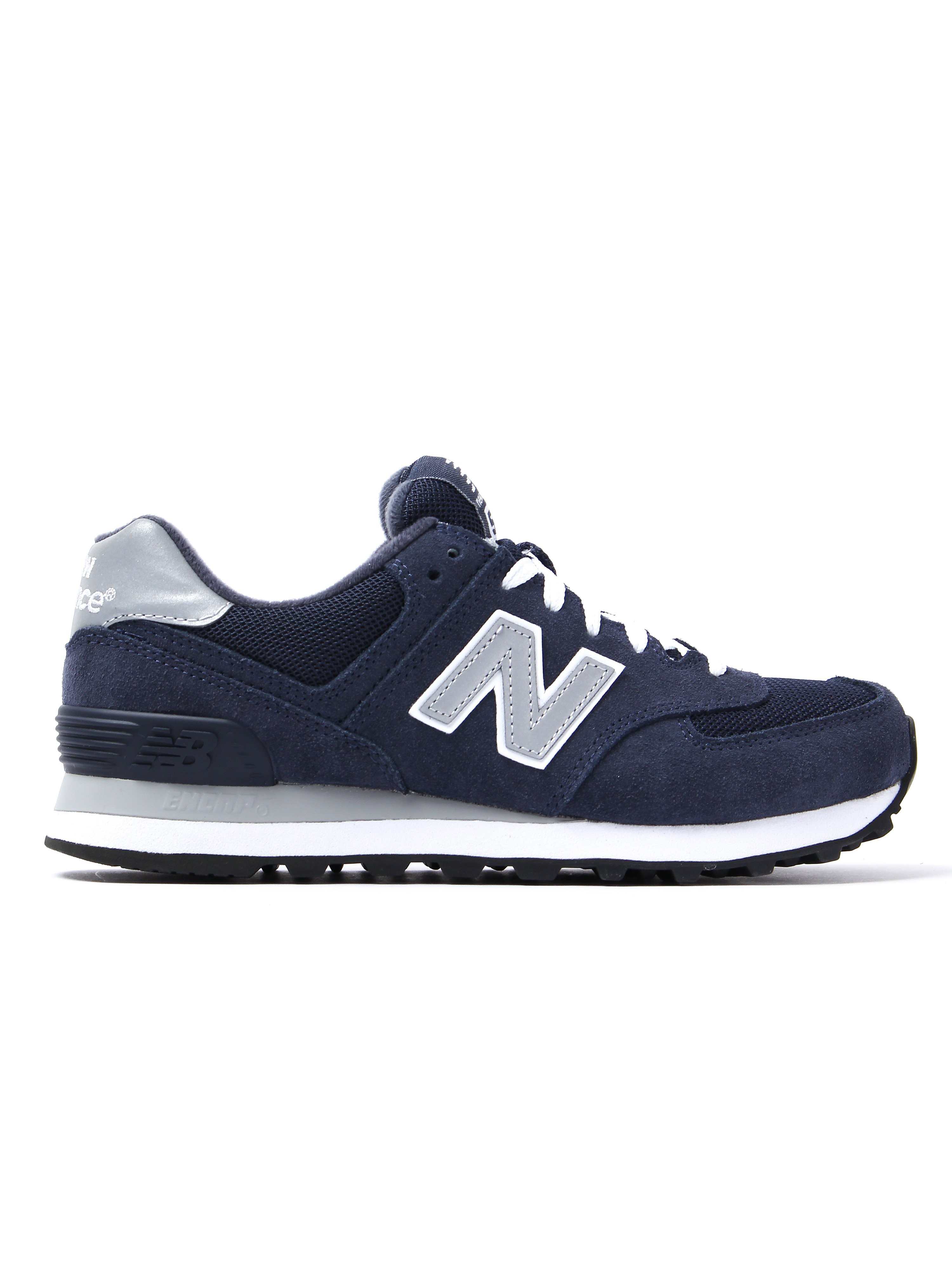 New Balance Women's 574 Low Top Trainers - Navy