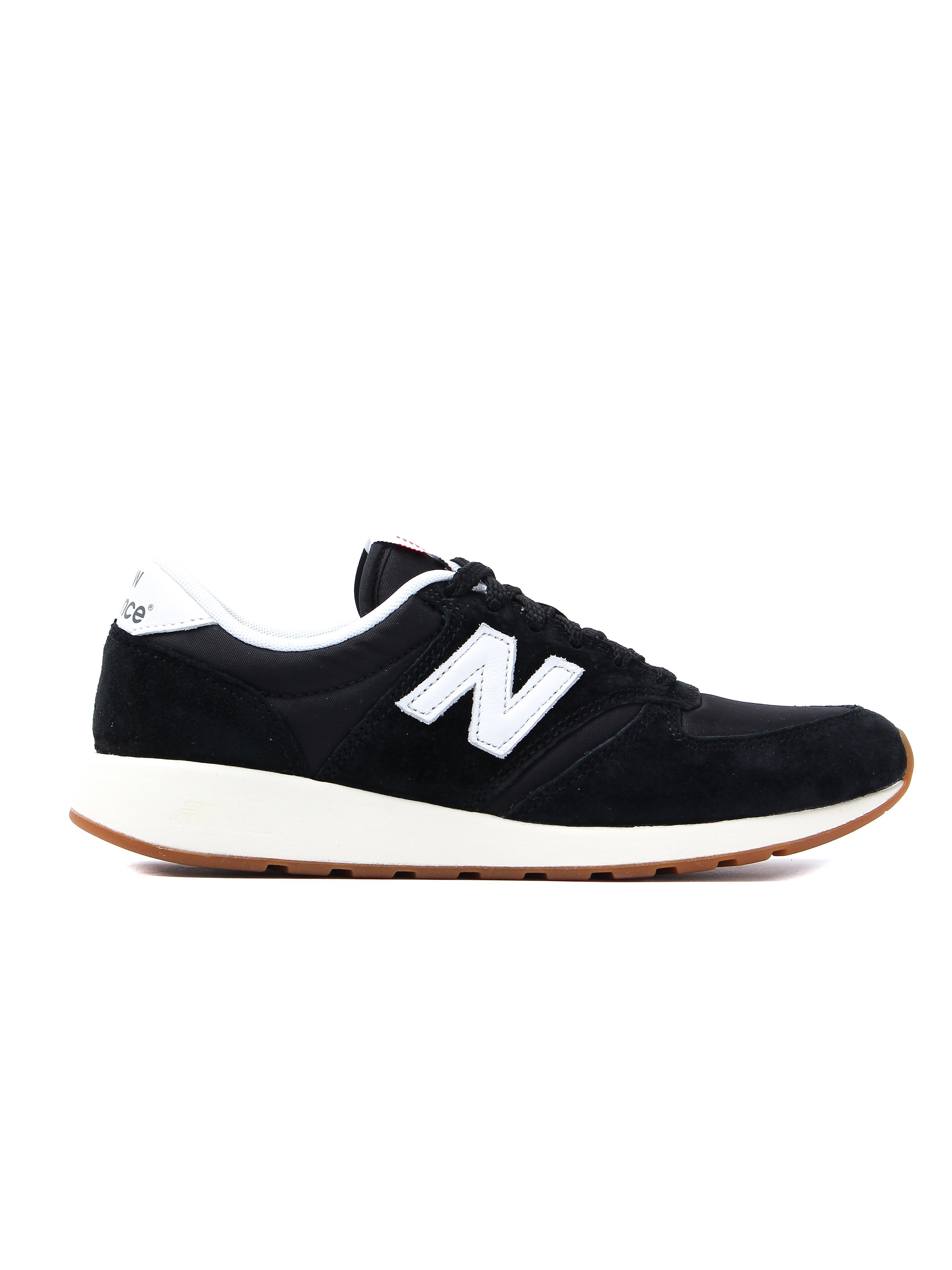New Balance Women's 420 Re-engineered Low Top Trainers - Black & White Suede