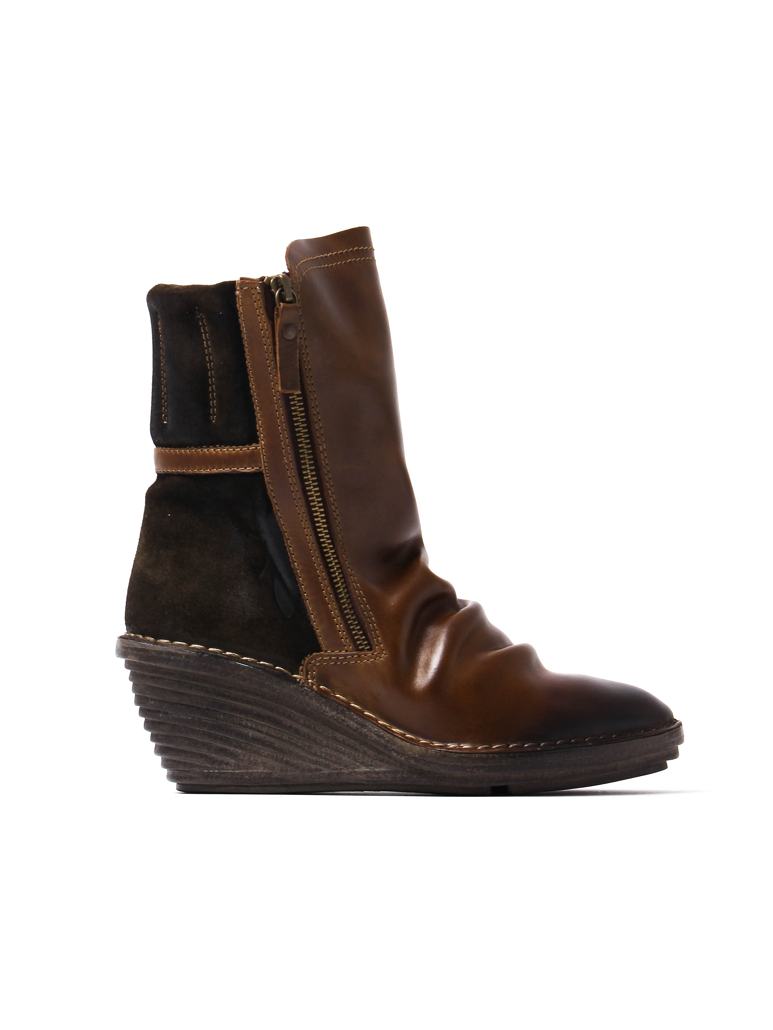 Fly London Women's Simi Slouch Boots - Sludge Leather