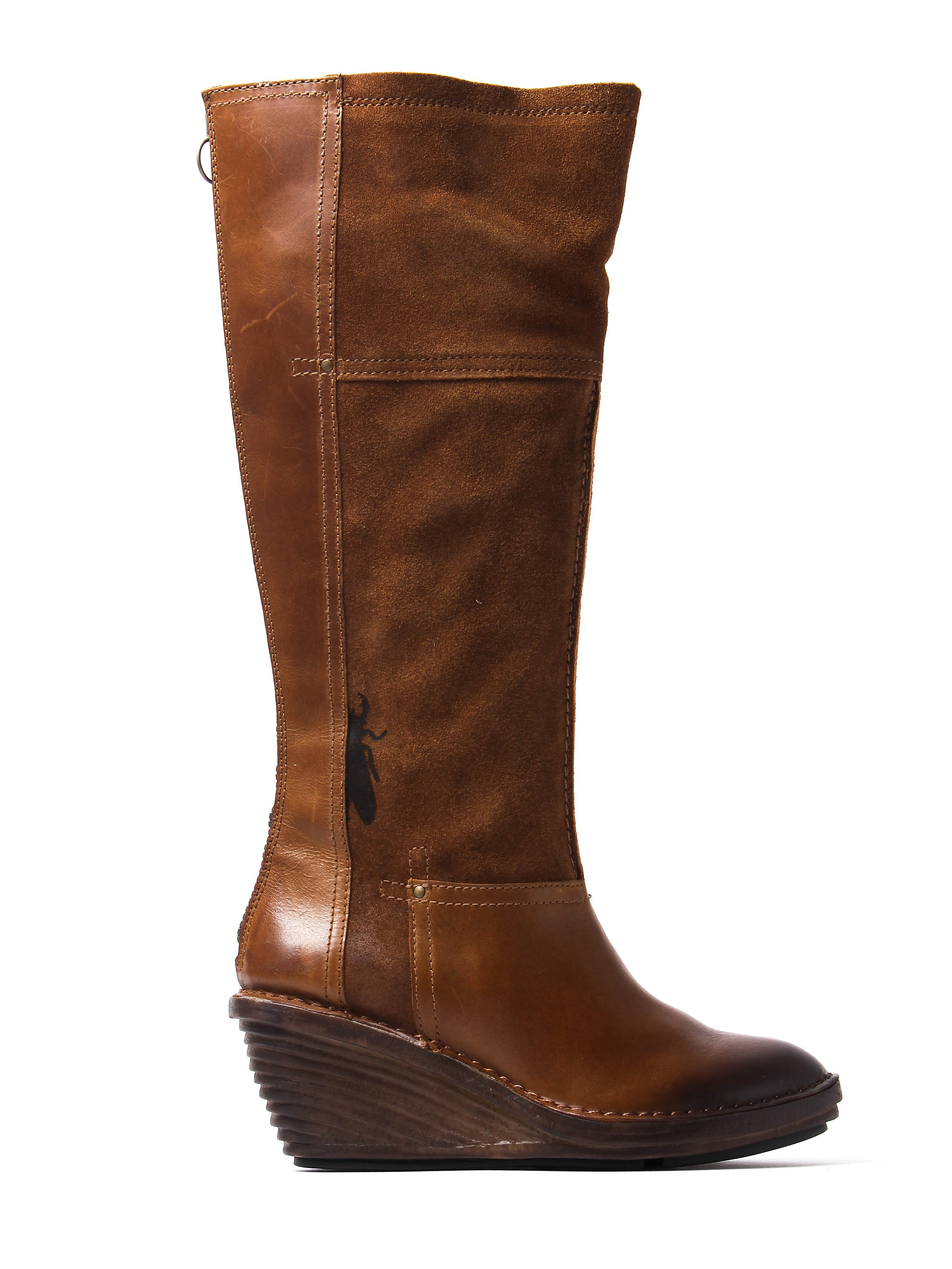 Fly London Women's Seda Tall Boots - Camel Suede